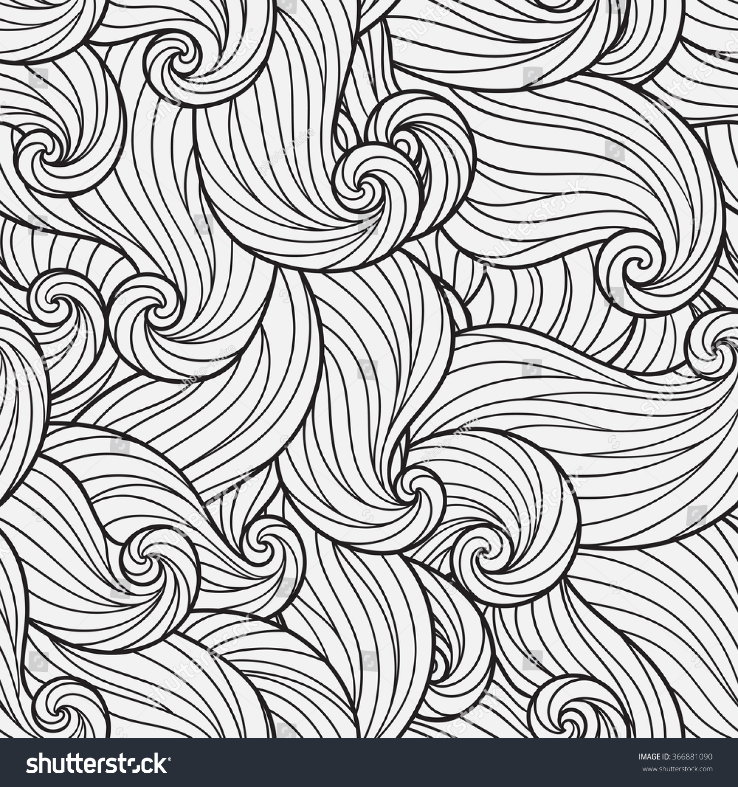 Seamless pattern coloring book ethnic floral stock vector for Tribal pattern coloring pages
