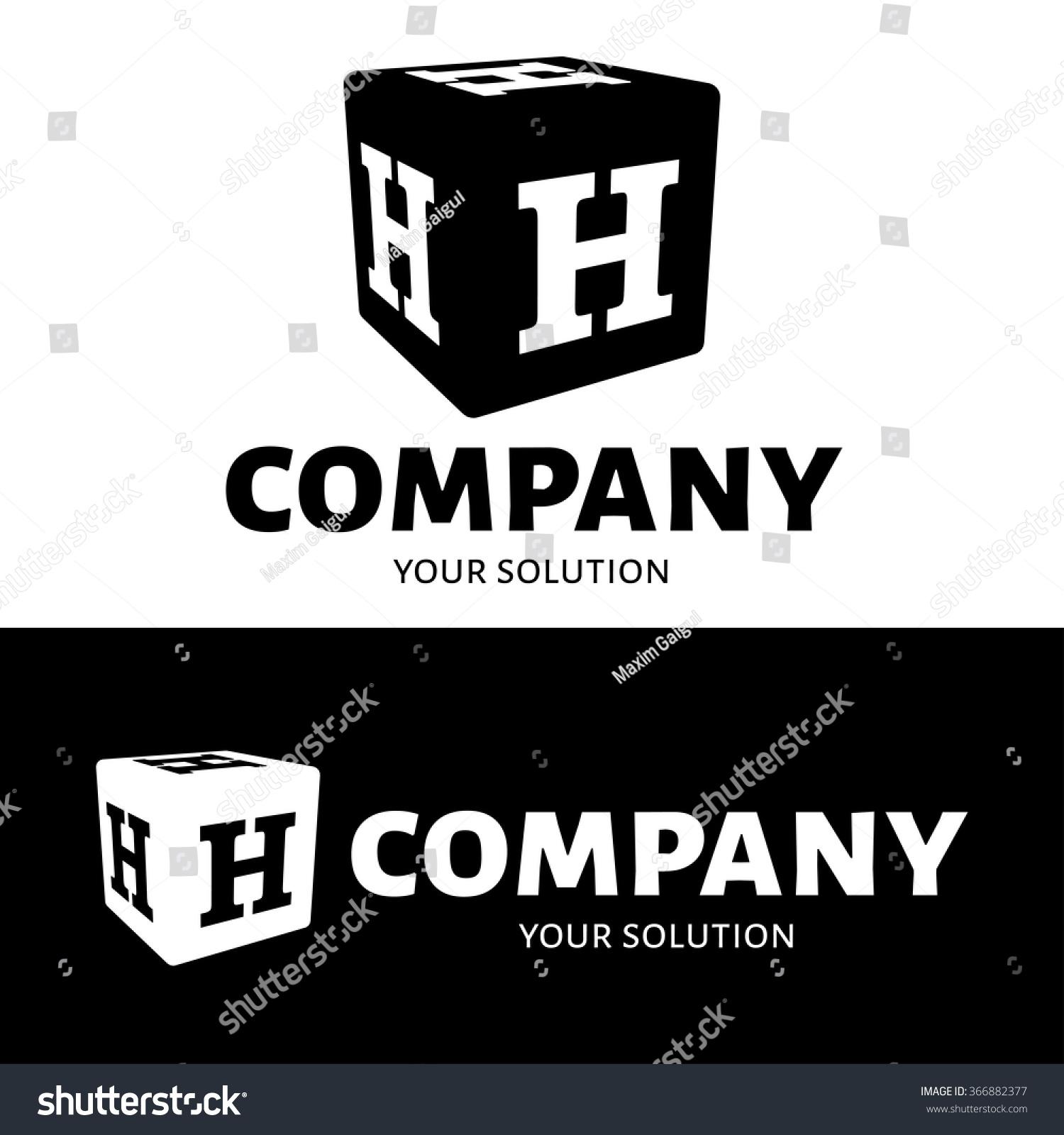 Vector Letter H Logo Cube Letter Stock Vector Shutterstock