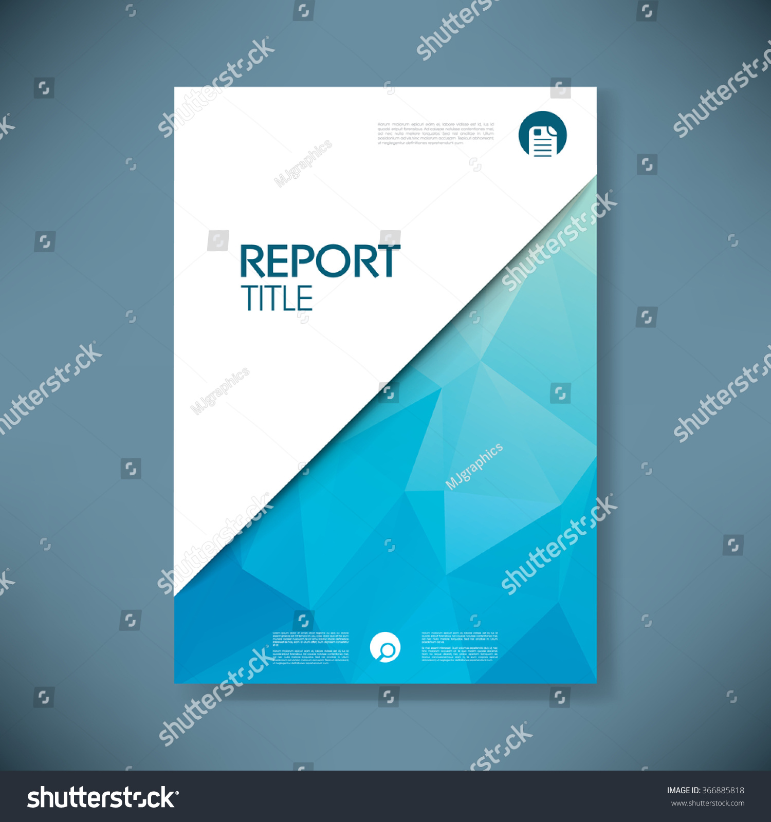 Business Deposit Book Cover : Business report cover low poly design stock vector