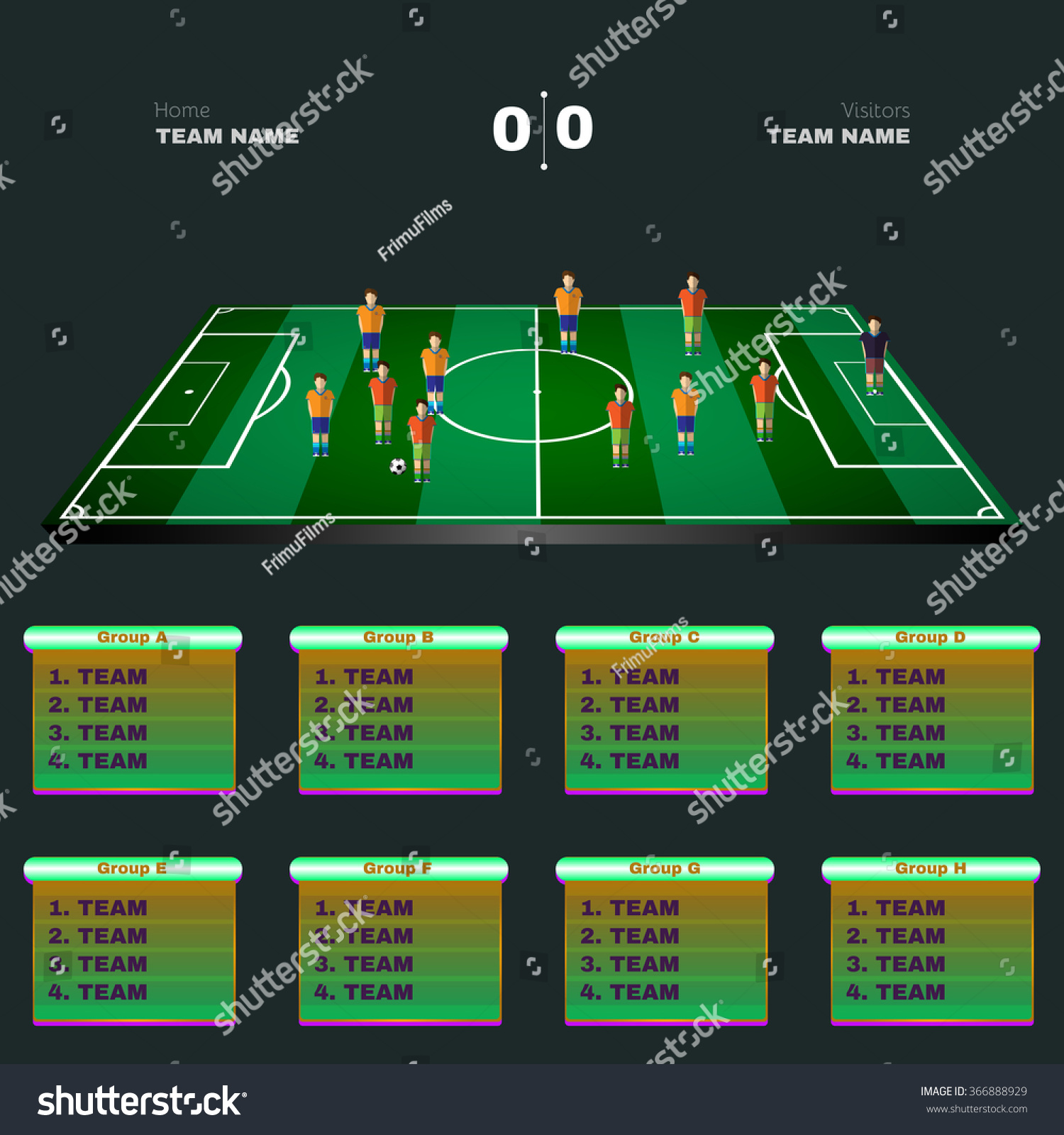 Royalty free soccer playground game statistics 366888929 stock soccer playground game statistics sports groups and teams tables football players positions on a pooptronica Choice Image