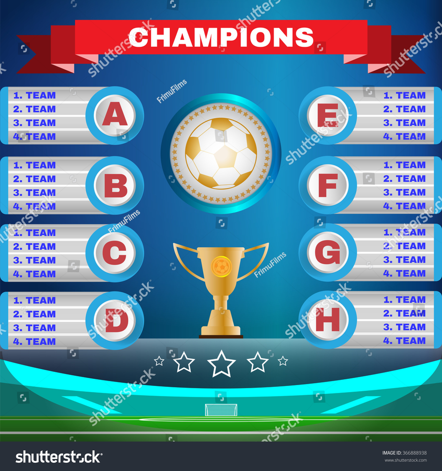 Soccer Champions Scoreboard Template On Blue Illustration – Scoreboard Template