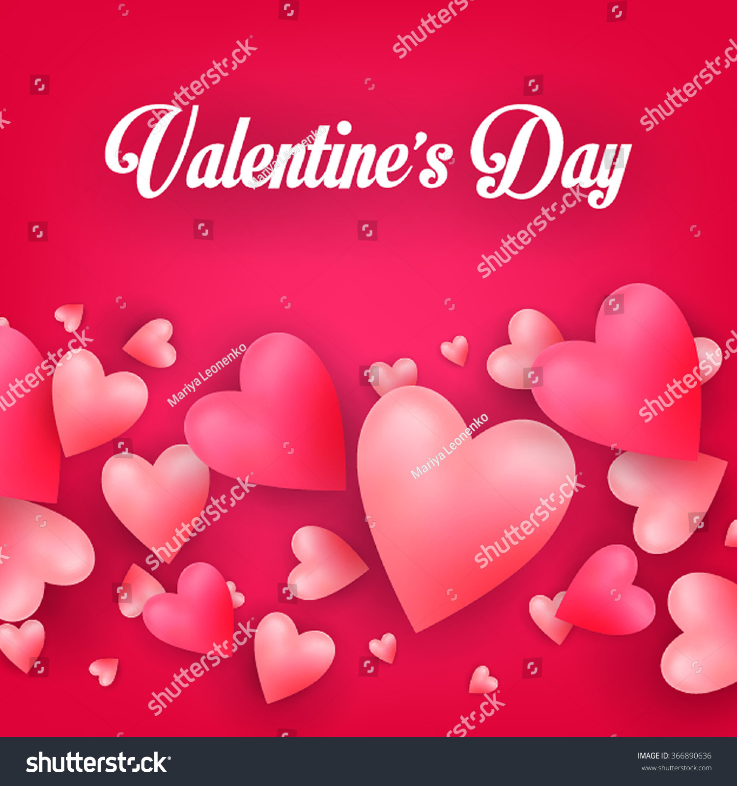 Valentine Greeting Card Flying Heart Candy Stock Vector 366890636