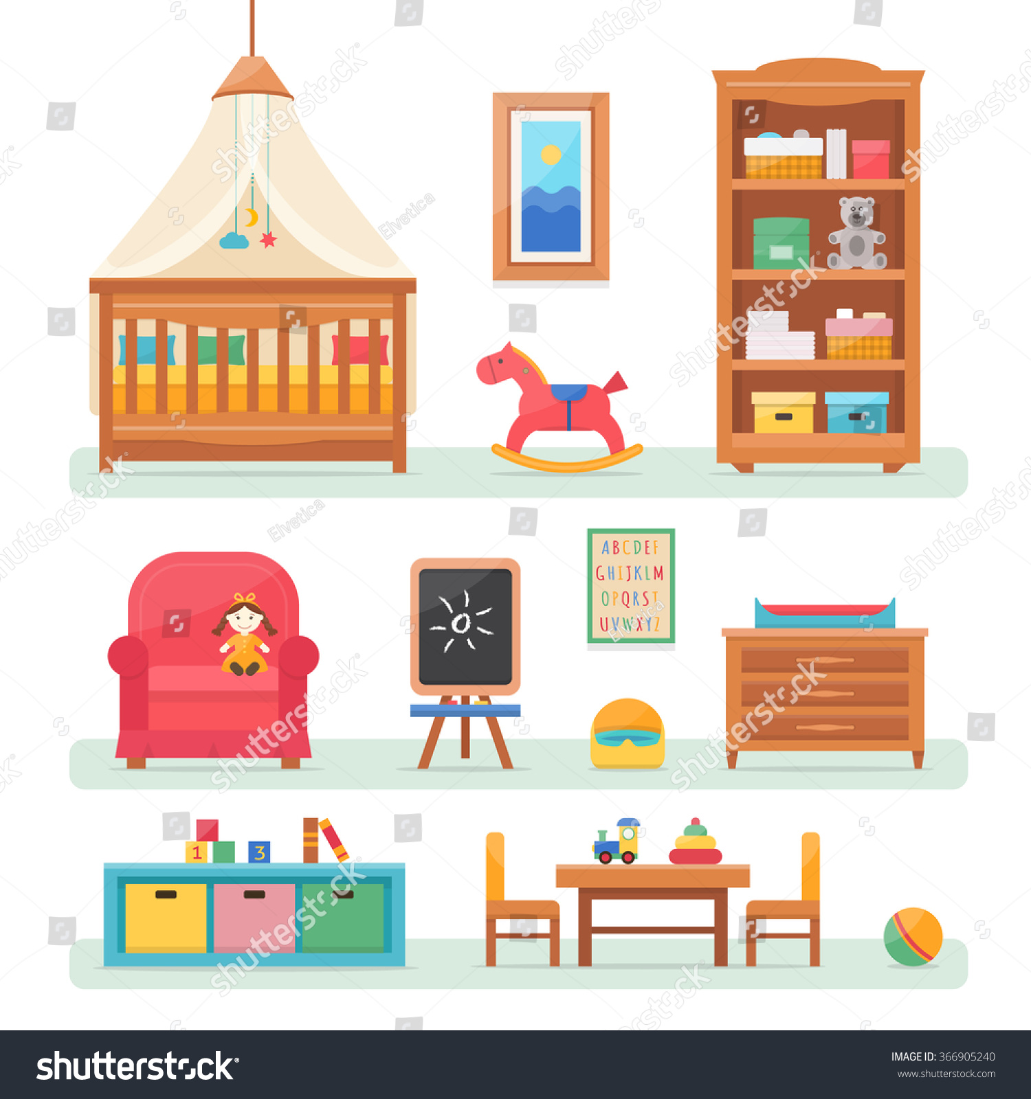 Babys Room Design With Play Set