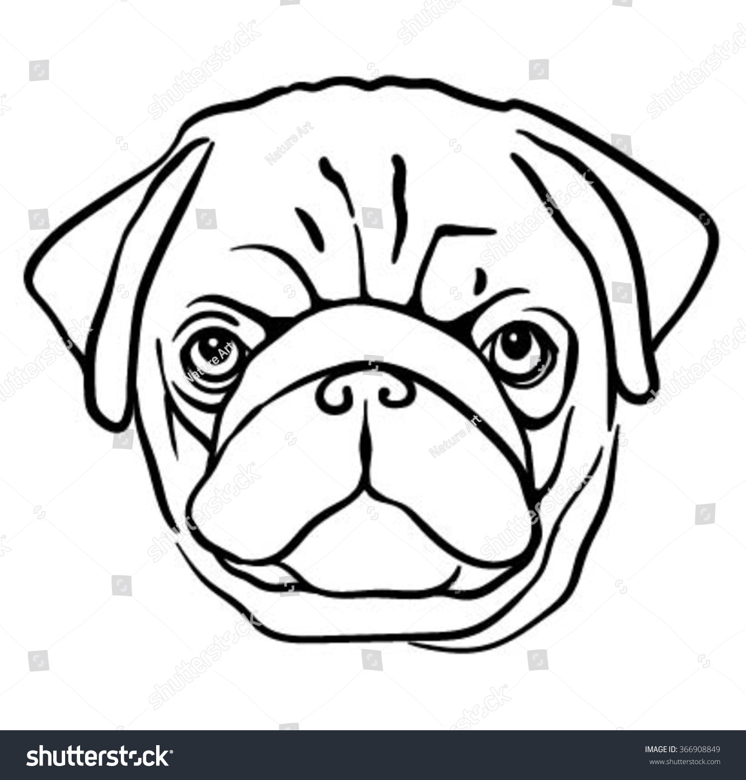 Pug Face Line Drawing : The gallery for gt advice dog background