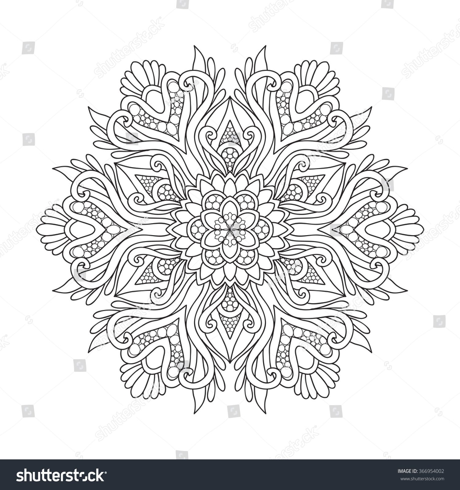 Decorative mandala vector illustration good coloring stock Good coloring books for adults