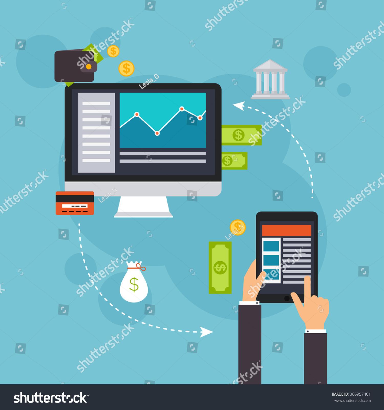 Flat Design Vector Illustration Concepts Online Stock Vector ...