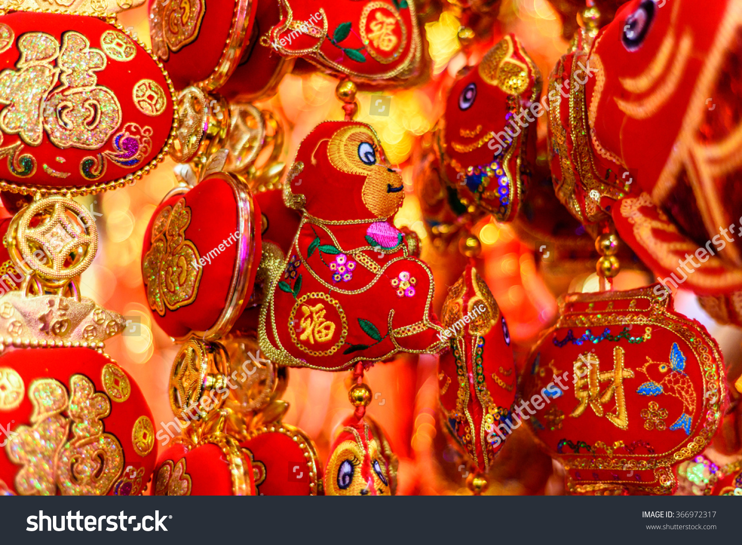 traditional chinese new year decorations happy stock photo 366972317 shutterstock. Black Bedroom Furniture Sets. Home Design Ideas