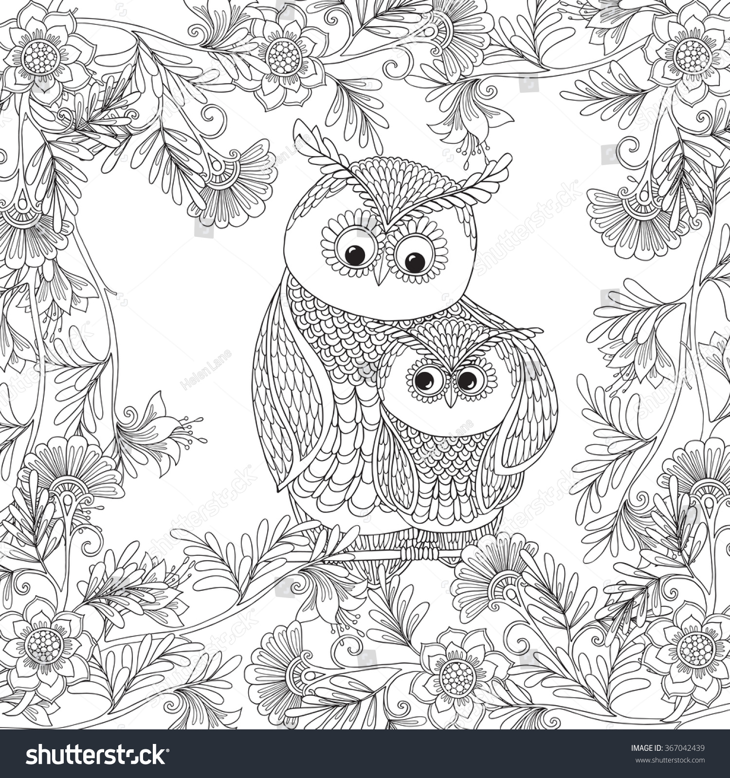 coloring book older children coloring stock vector 367042439