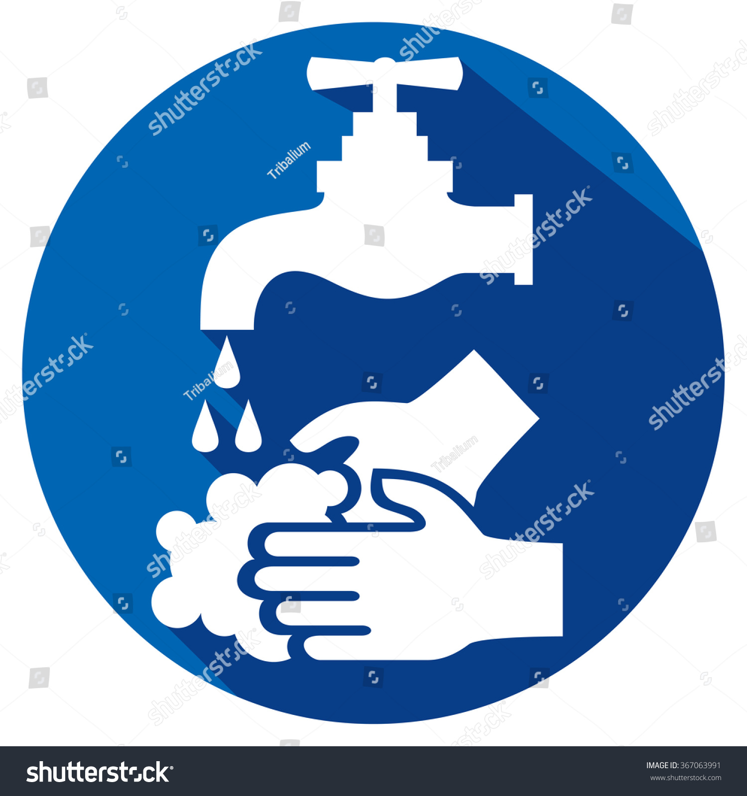 Please Wash Your Hands Flat Icon Stock Vector Royalty Free