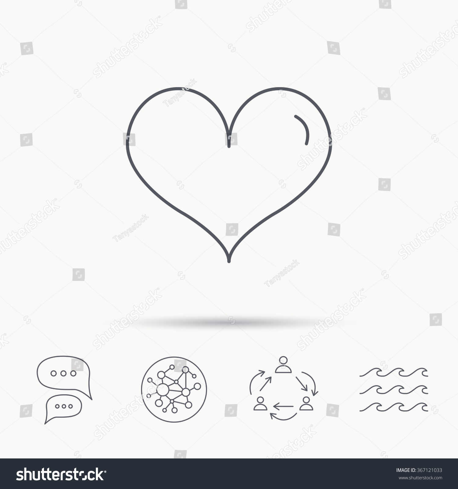 Royalty Free Heart Icon Love Sign Life Symbol 367121033 Stock