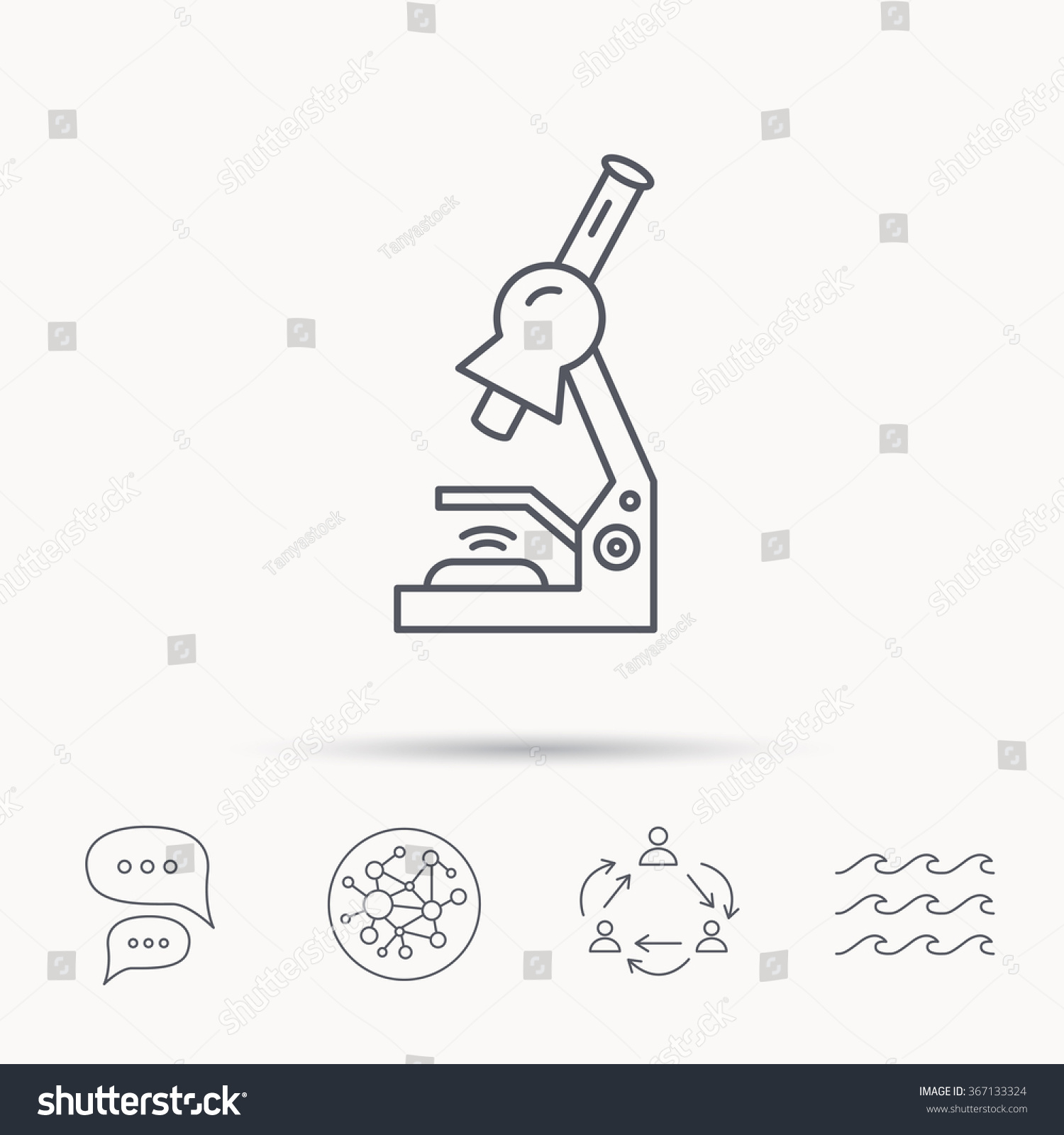 Microscope icon medical laboratory equipment sign em vetor stock microscope icon medical laboratory equipment sign pathology or scientific symbol global connect network ccuart Gallery