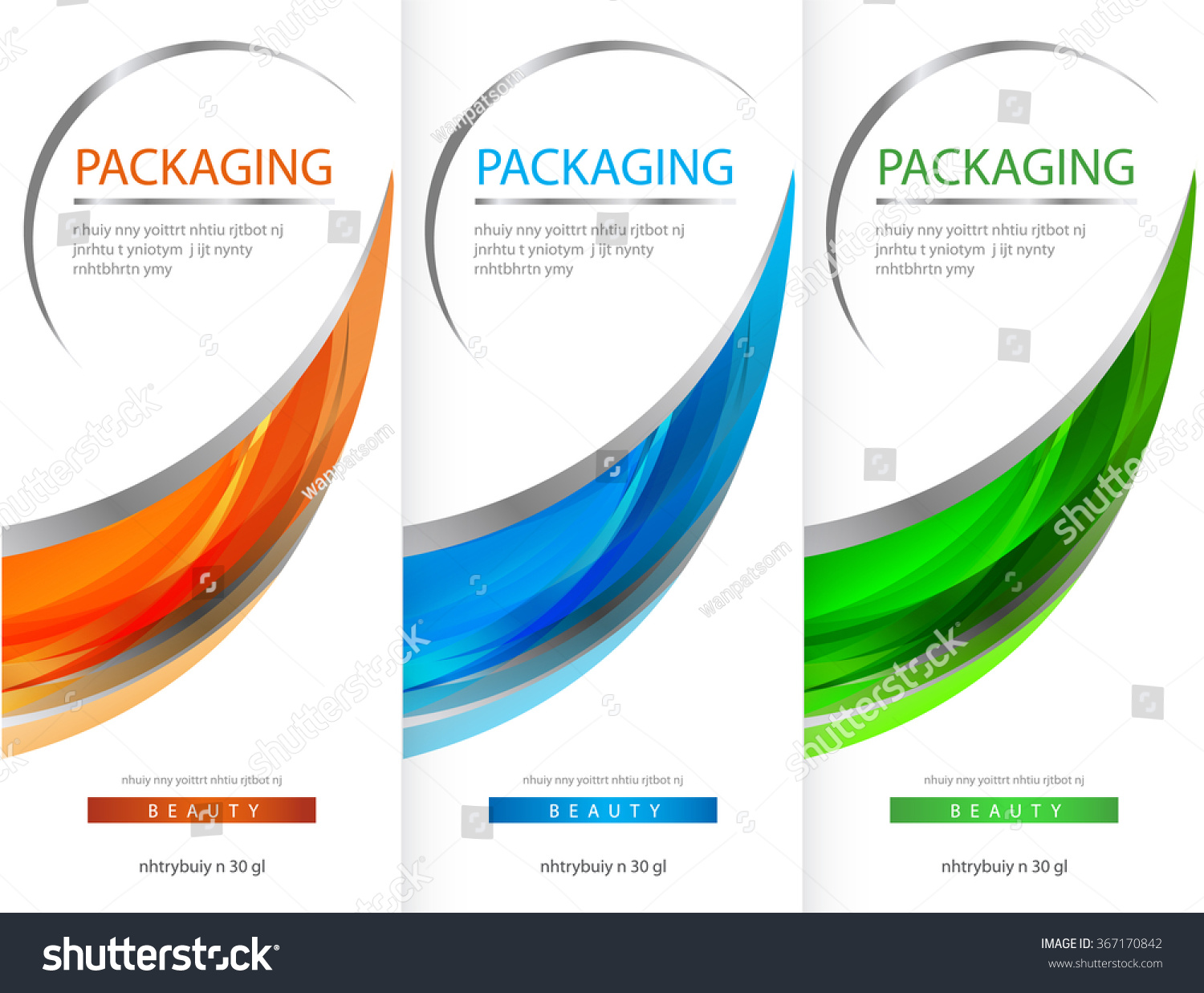 Modern Exhibition Stand Vector : Package template box design vector illustration stock
