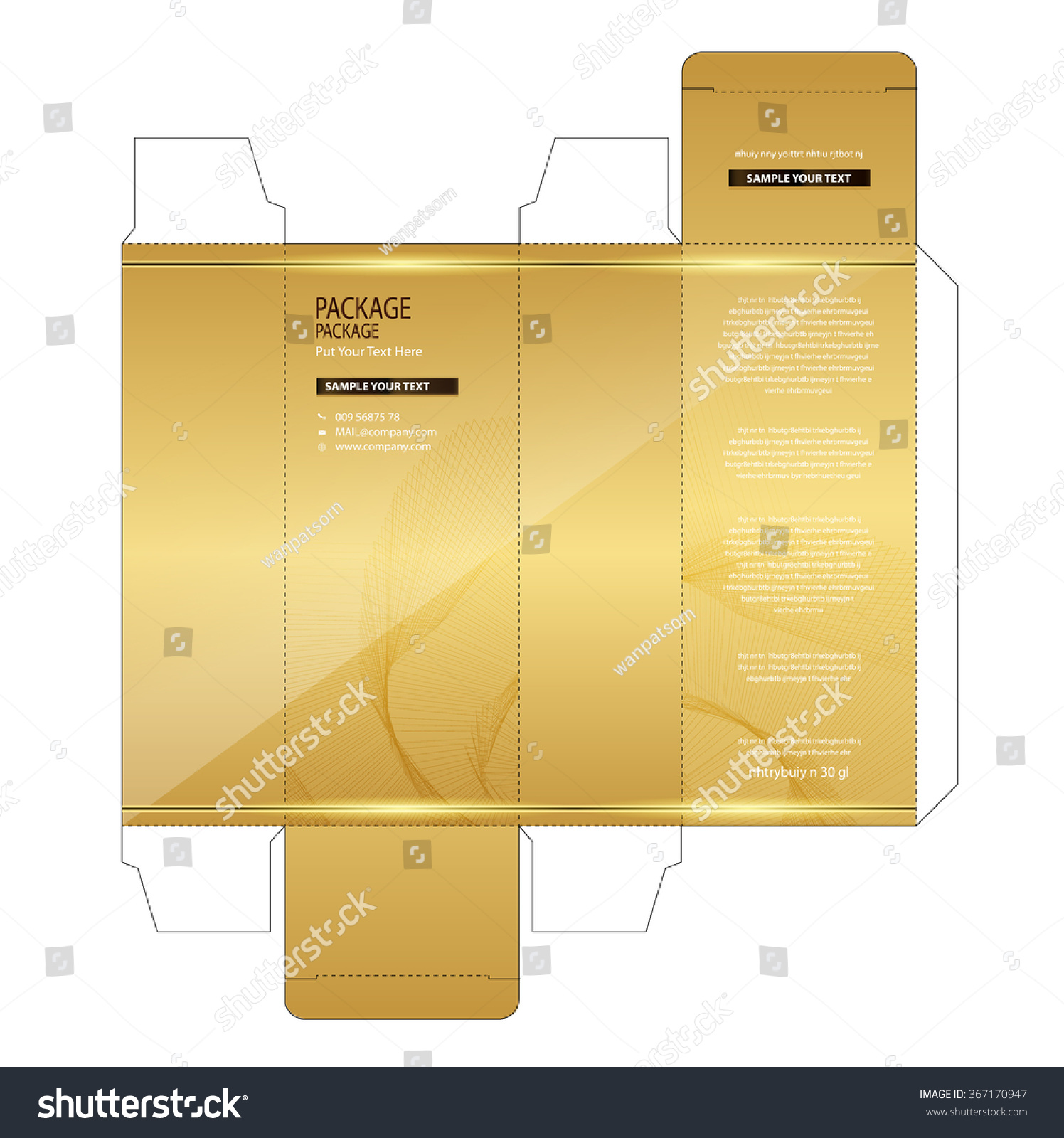 Package Box Design Vector Illustration Stock Vector 367170947 ...