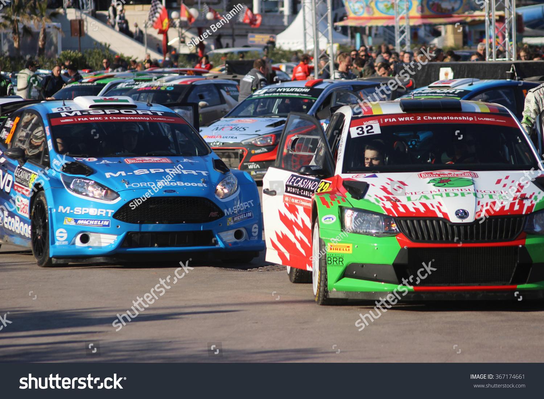 Montecarlo Jan 24 Rally Cars Were Stock Photo 367174661 - Shutterstock
