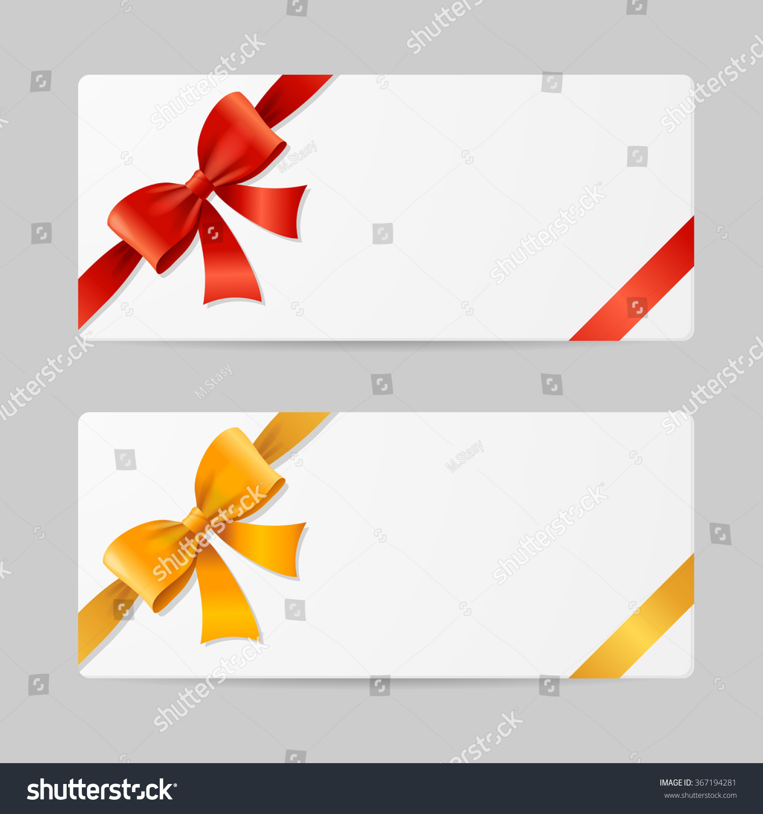 Gift Card Template Res Gold Ribbon Vector 367194281 – Template for Gift Card