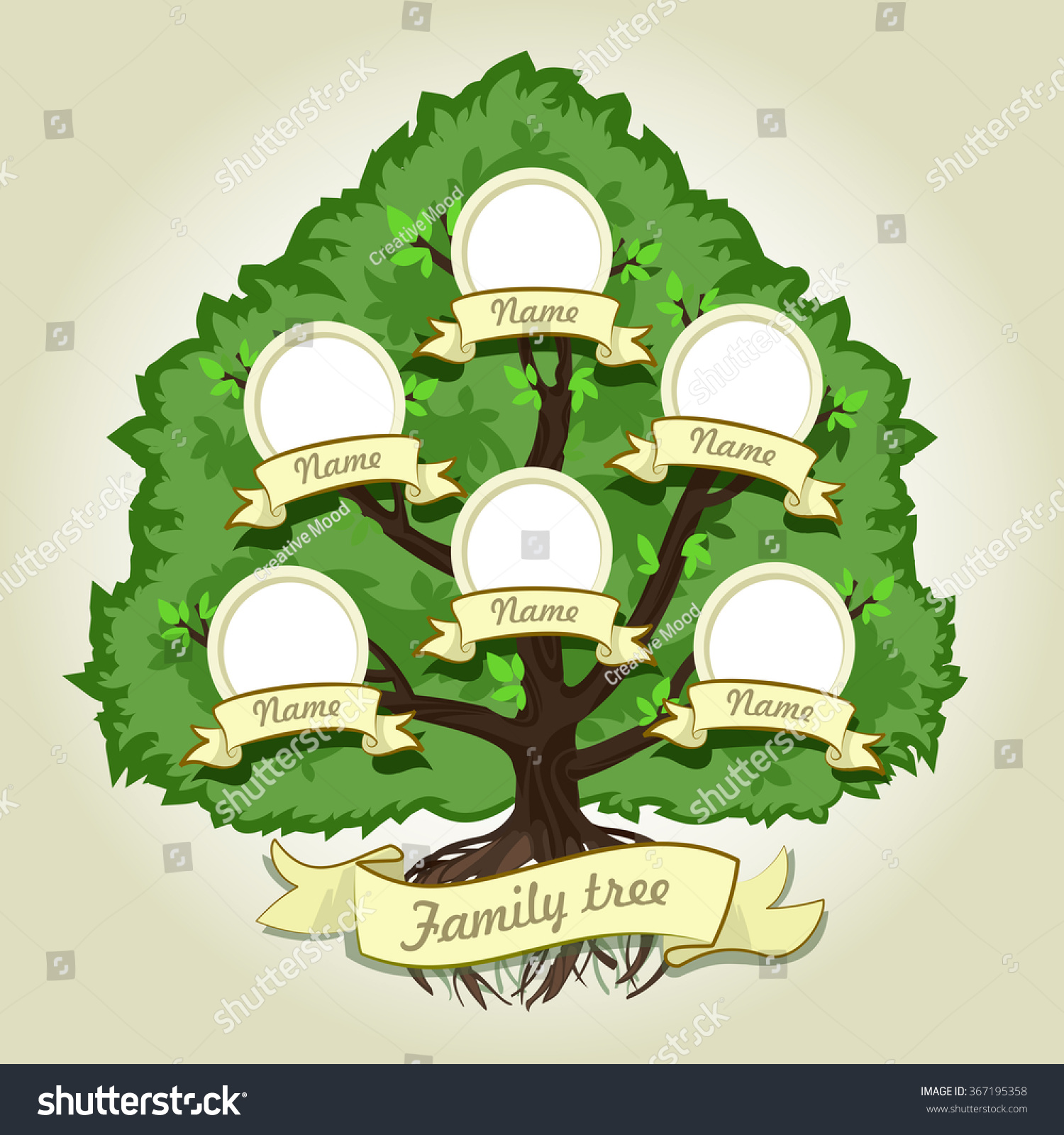 Genealogical family tree on gray background stock vector - Family tree desktop wallpaper ...