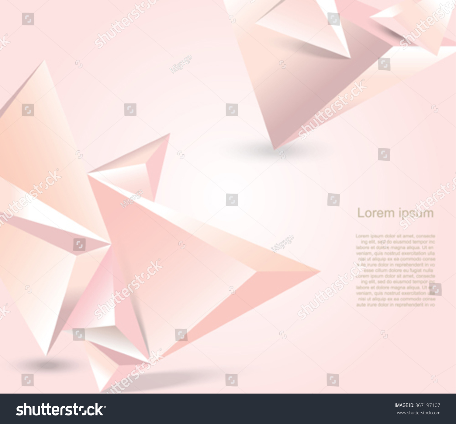 Geometrical Polygonal Design Background Aabstract Form Stock