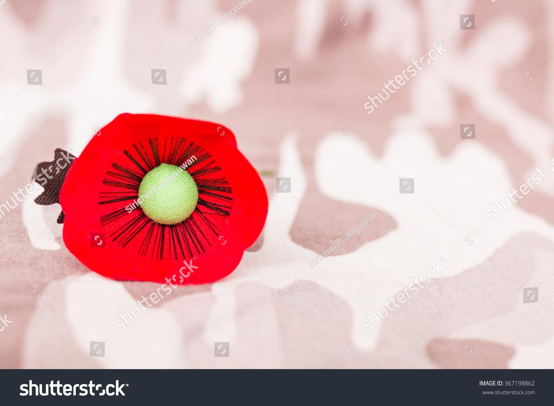 Red Poppy Symbol Thailand Veterans Day Stock Photo Edit Now
