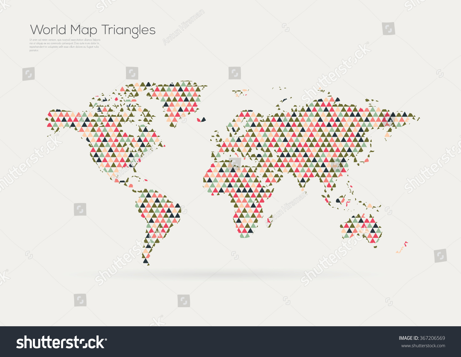 Vector world map design triangle pattern vectores en stock 367206569 vector world map design triangle pattern continents gumiabroncs Image collections