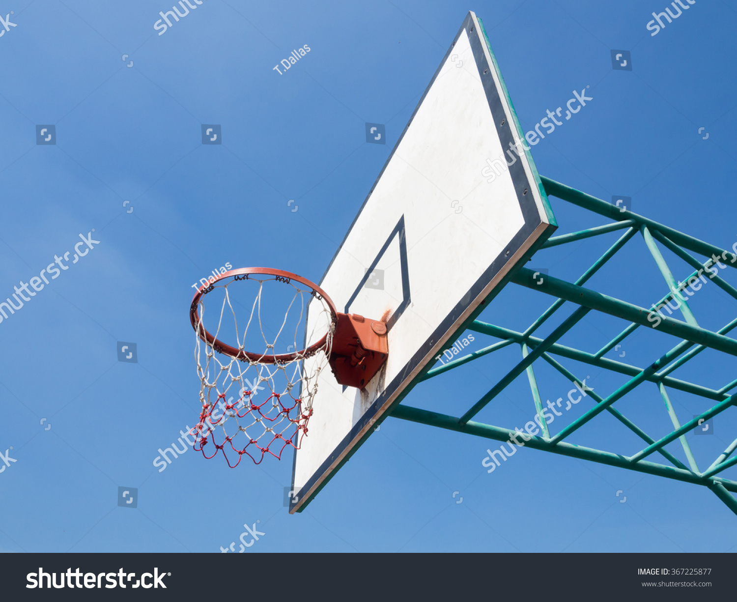Basketball Hoop With Net In The Playground Ez Canvas Diagram