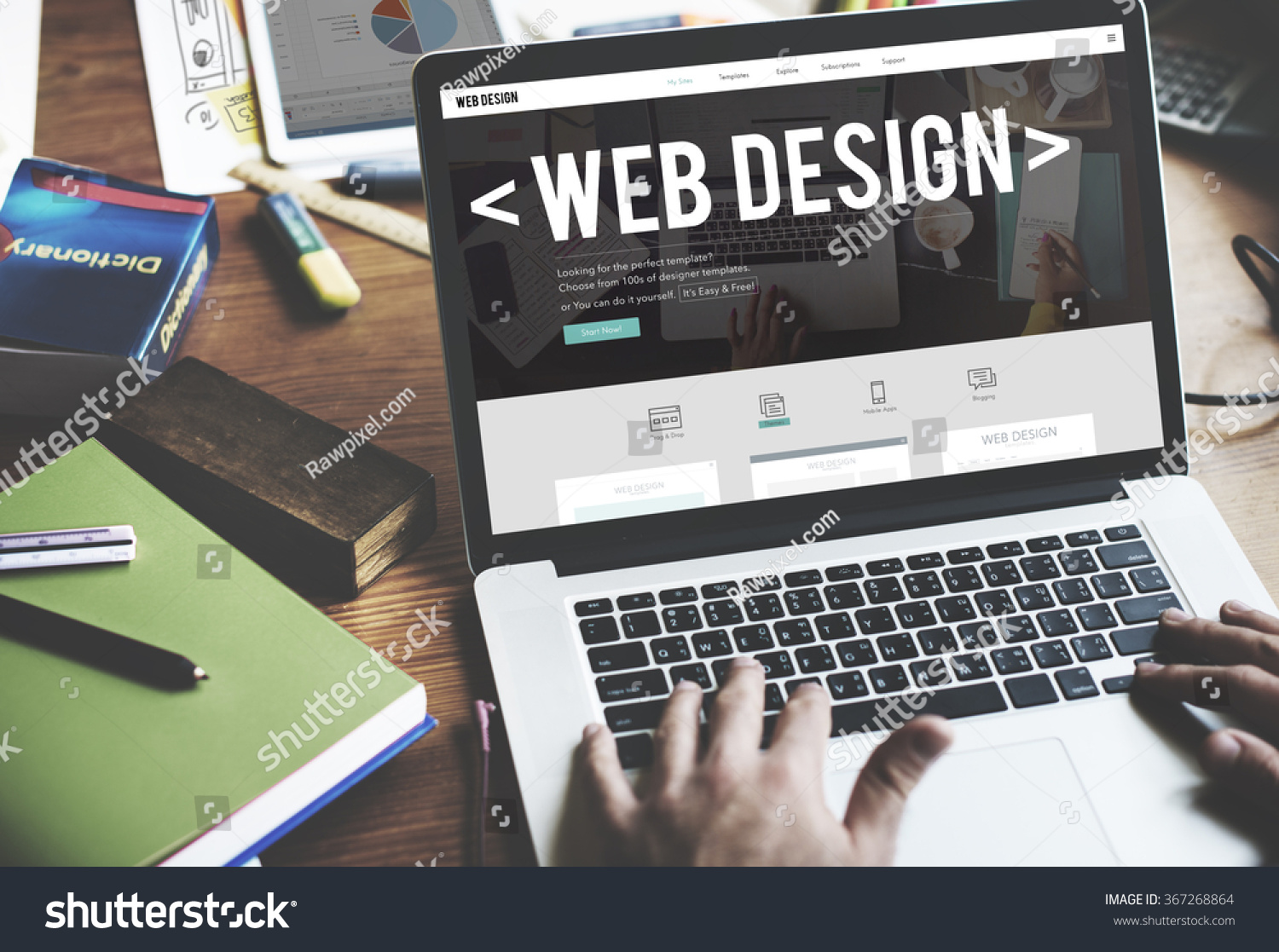 web design website homepage ideas programming stock photo 367268864