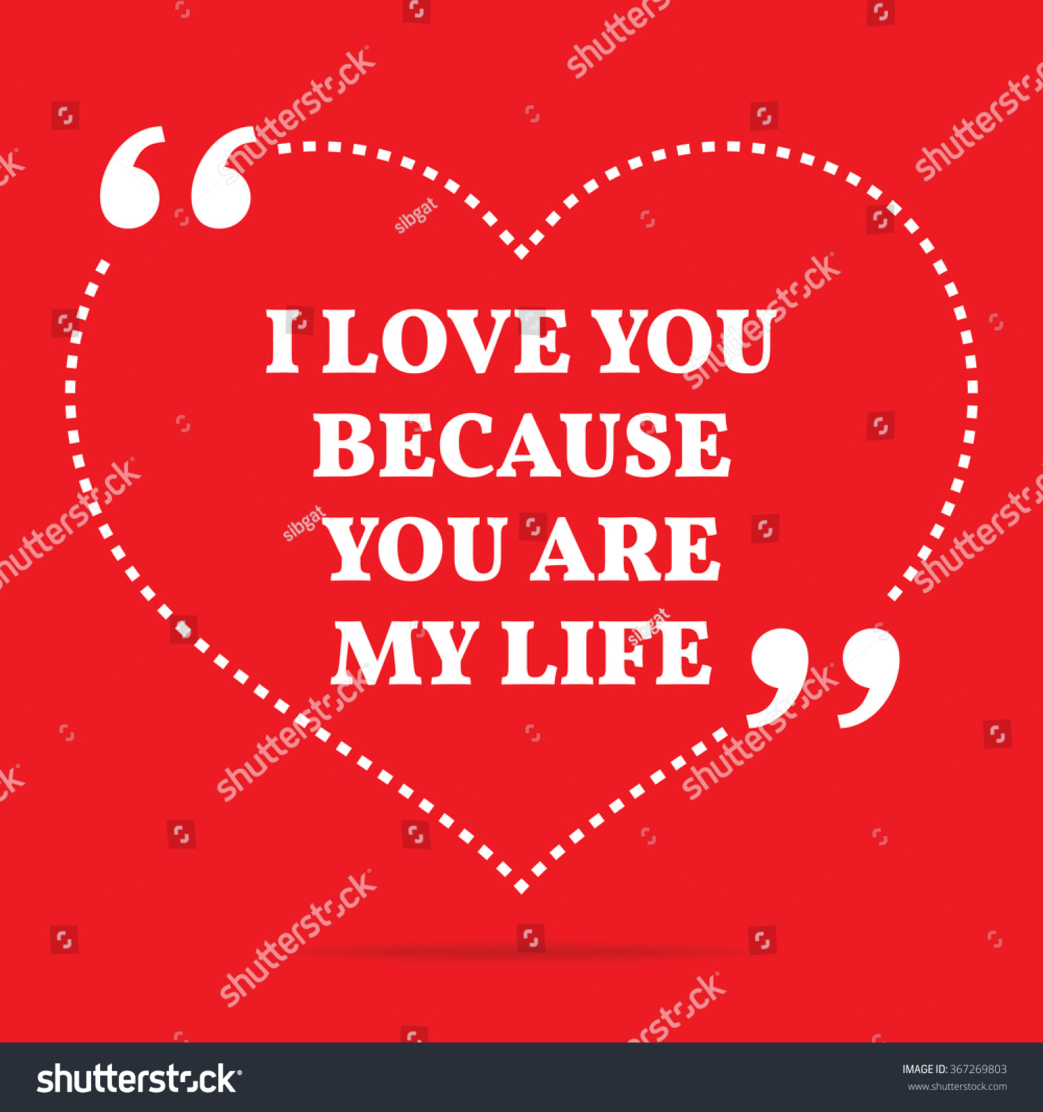 I Love You Because Quotes Inspirational Love Quote Love You Because Stock Vector 367269803