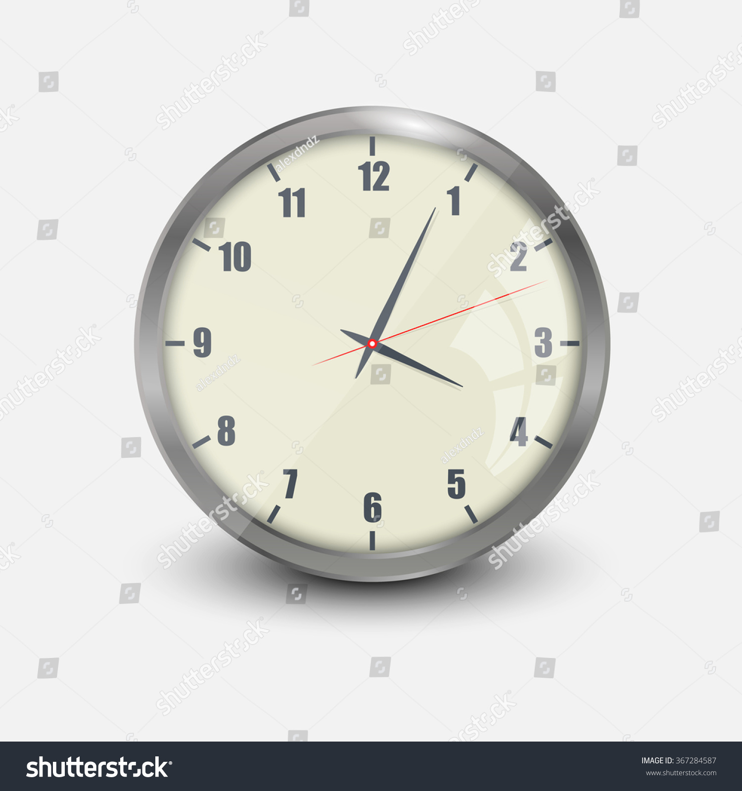 Realistic vector illustration wall clock stock vector 367284587 realistic vector illustration of wall clock amipublicfo Image collections