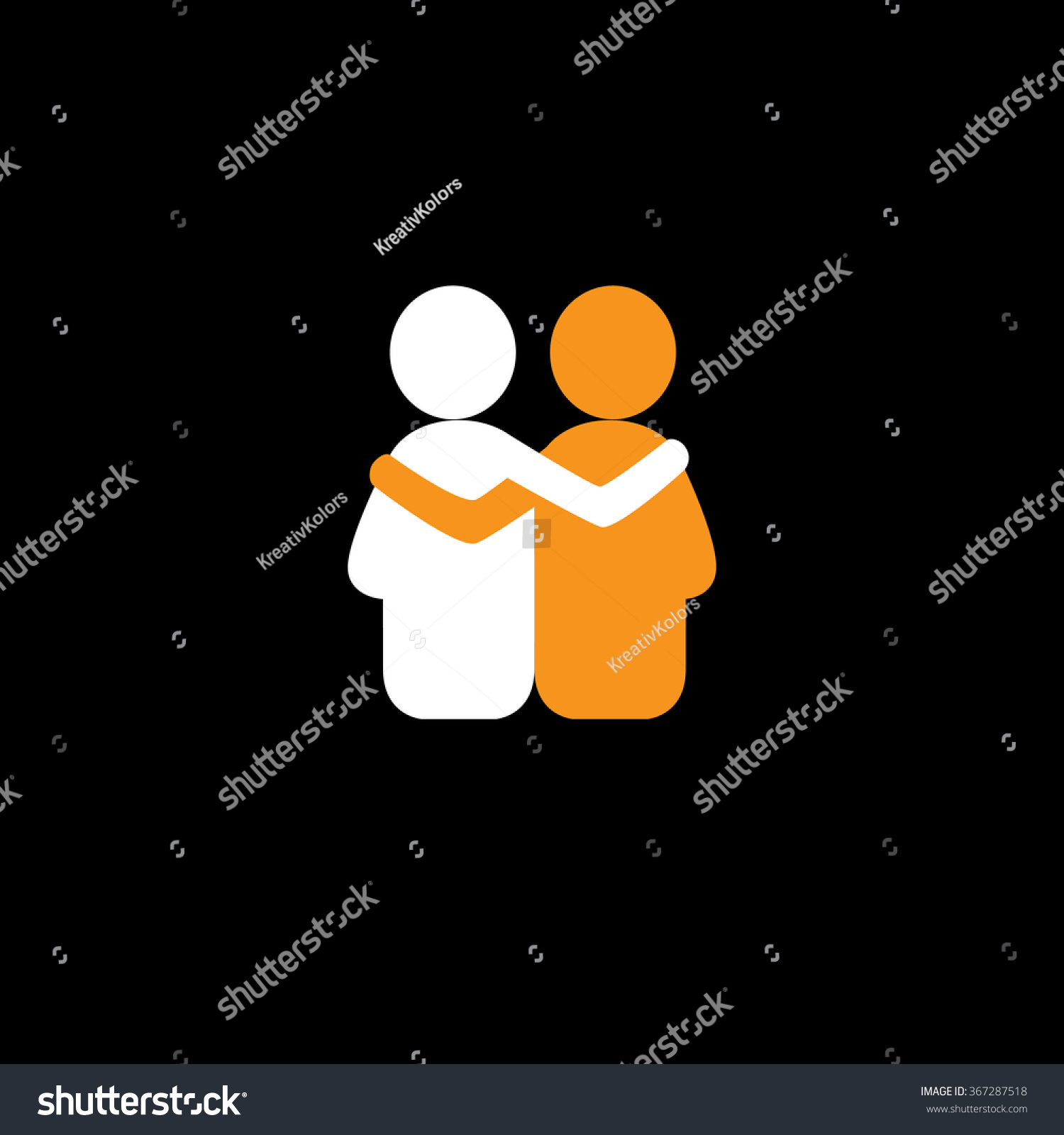Compassion For Each Other: Friends Hug Each Other Deep Relationship 스톡 벡터 367287518