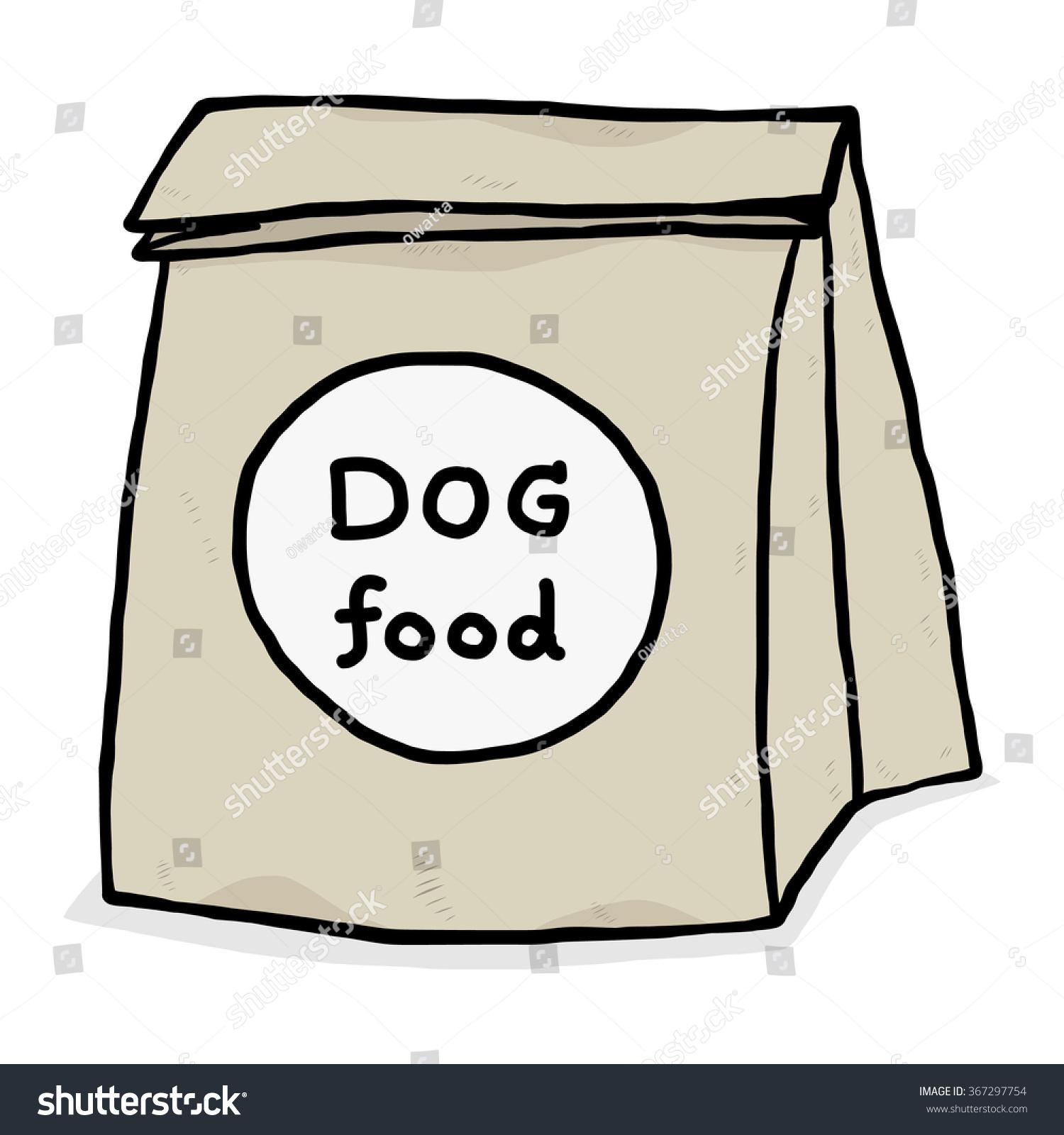 Dog Food Paper Bag Cartoon Vector Stock Vector 367297754 ...
