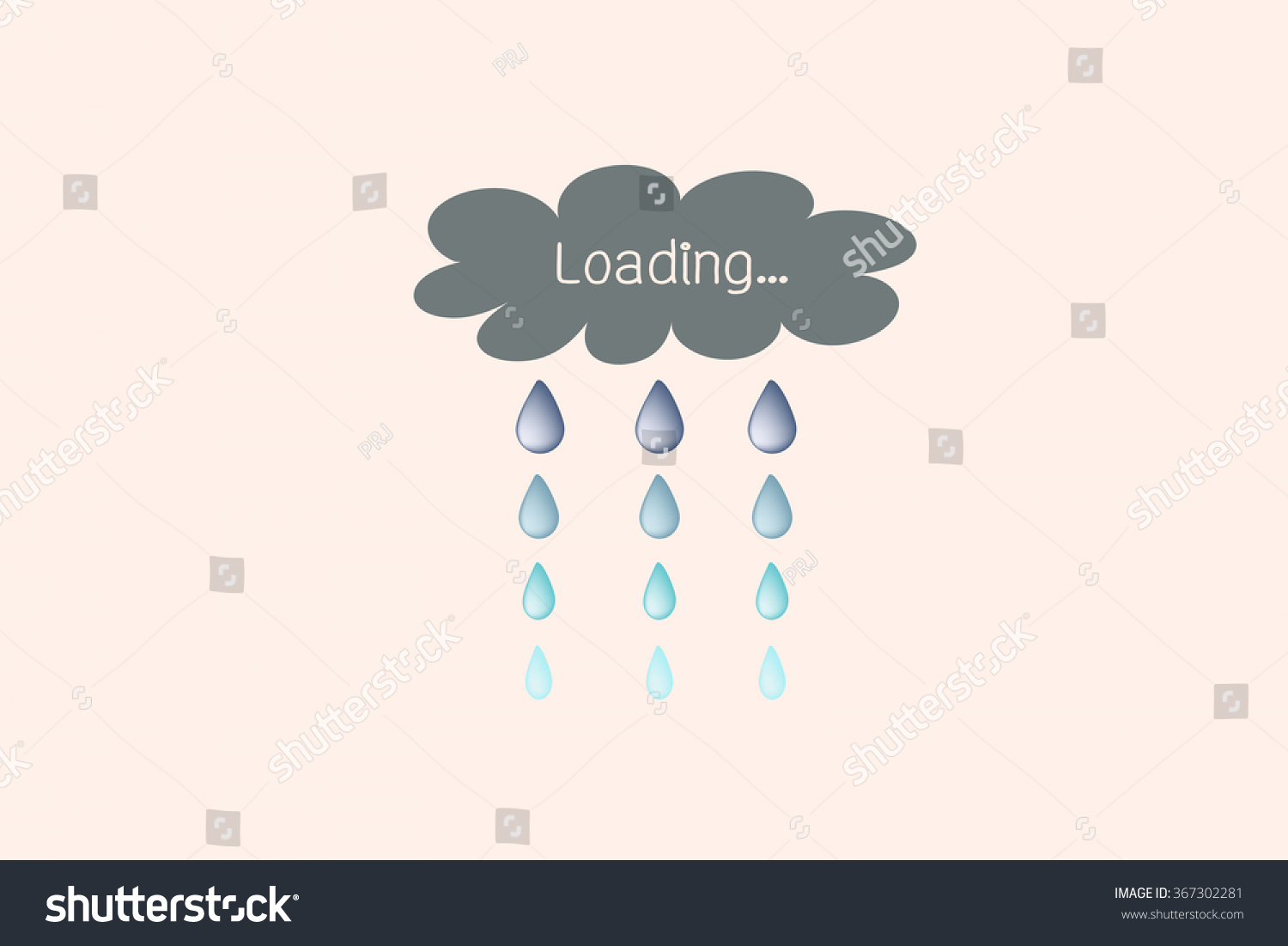 Loading symbol cloud rainfall style stock vector 367302281 loading symbol in cloud and rainfall style biocorpaavc Image collections