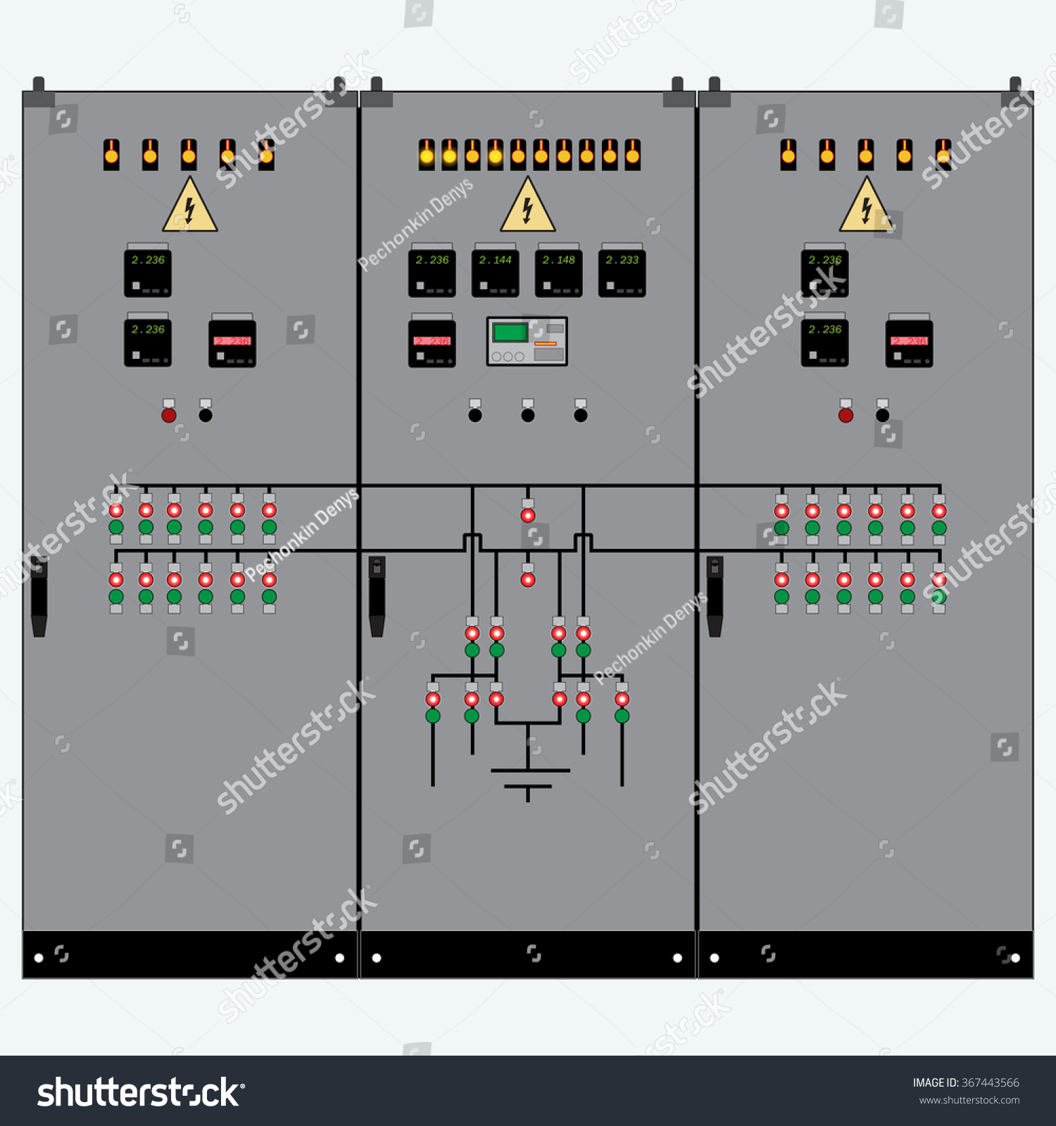Picture Electrical Panel Electric Meter Circuit Stock Vector Of The And Breakershigh Voltage Transformer