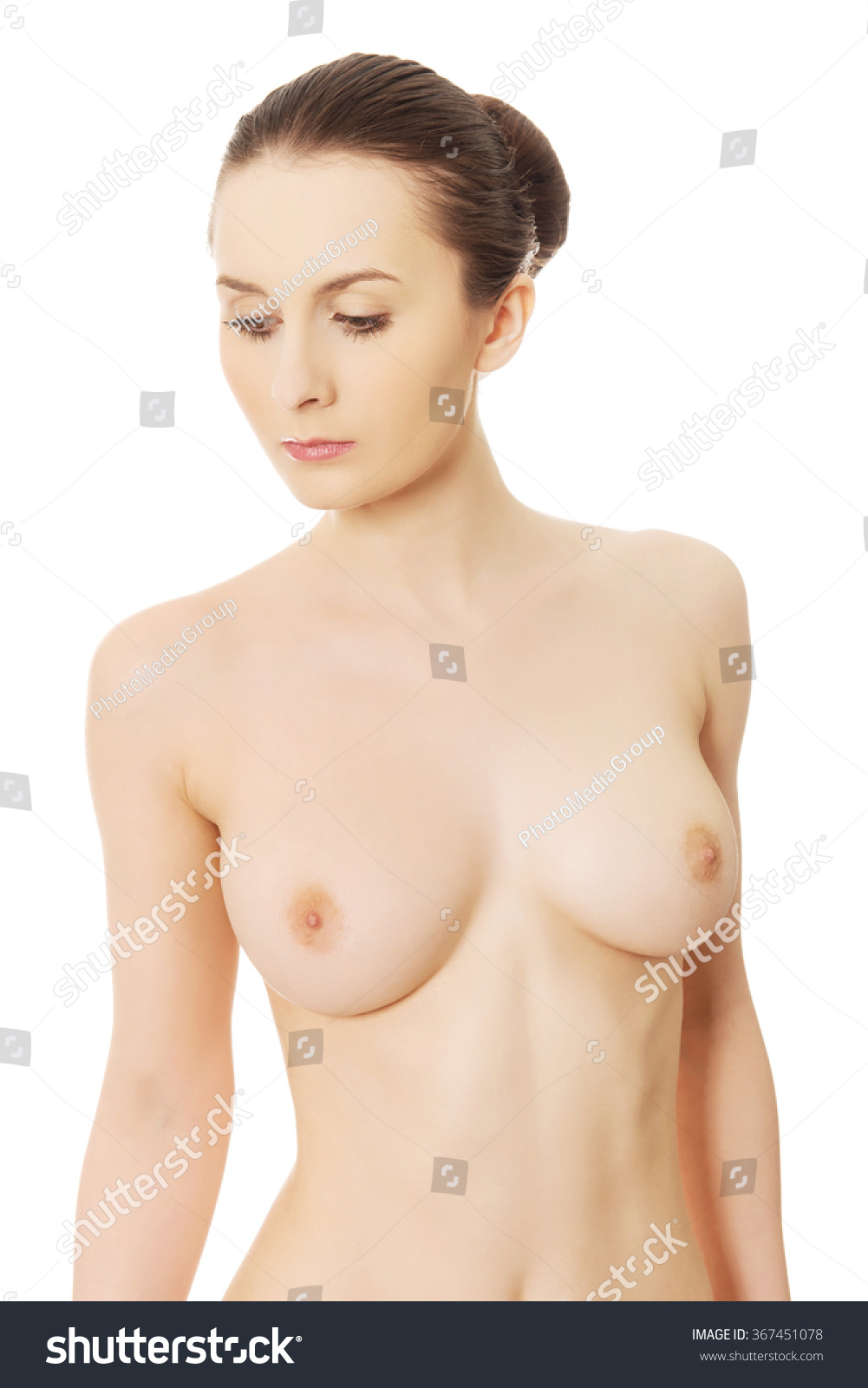 beautiful woman naked breast stock photo (royalty free) 367451078
