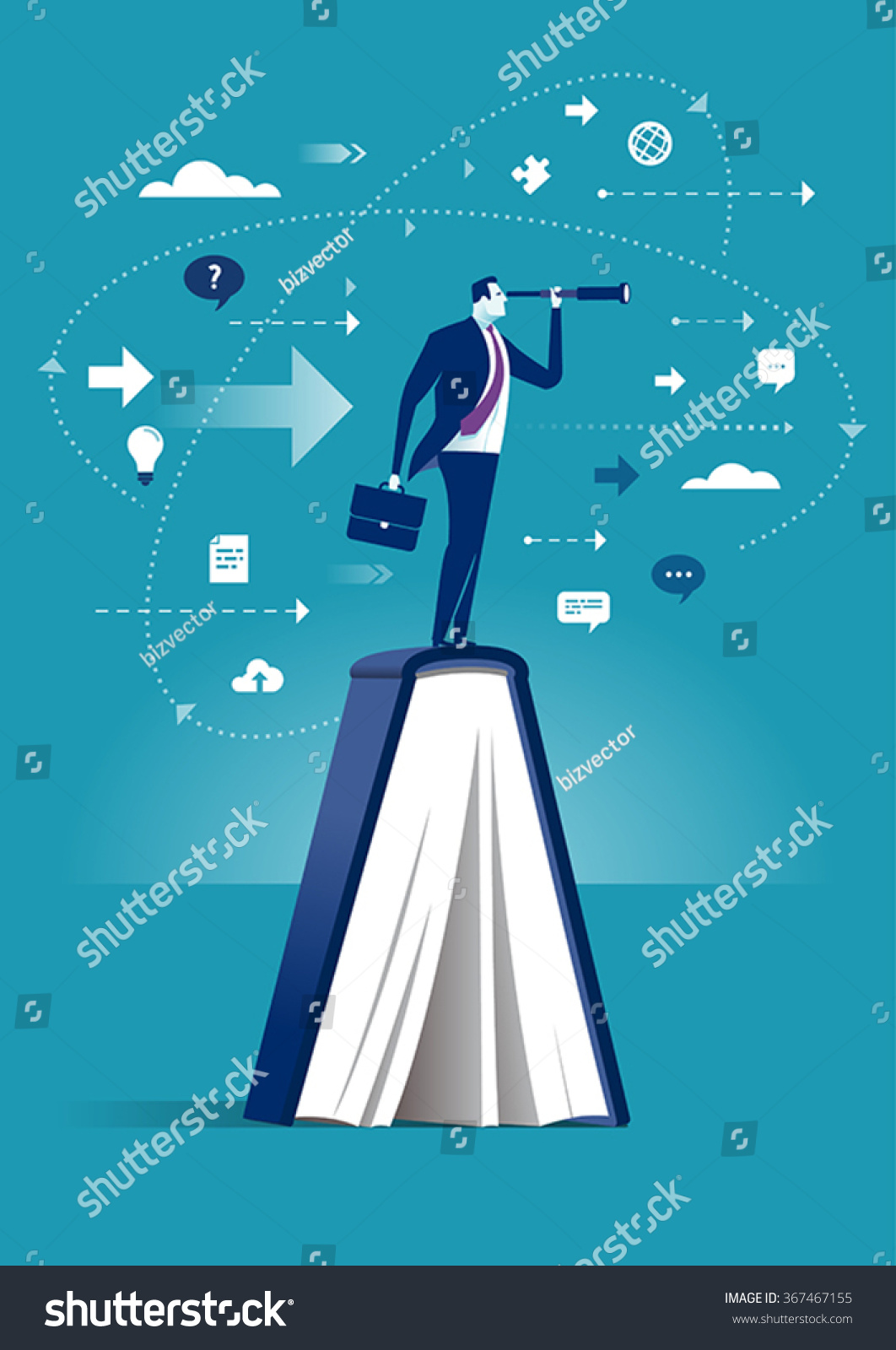 Knowledge Concept Business Illustration Stock Vector ...