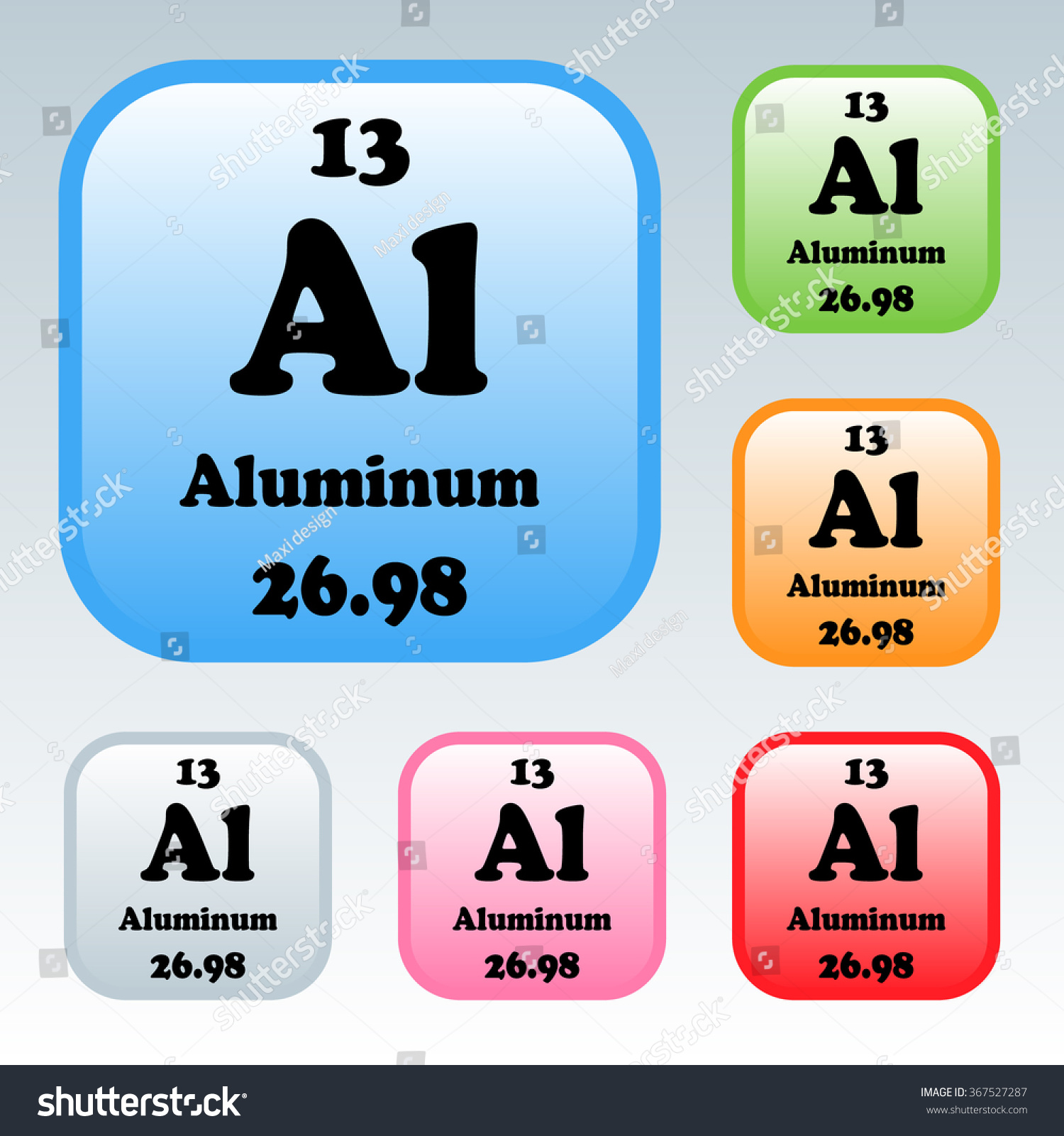 Periodic table elements aluminum stock vector 367527287 shutterstock the periodic table of the elements aluminum gamestrikefo Image collections