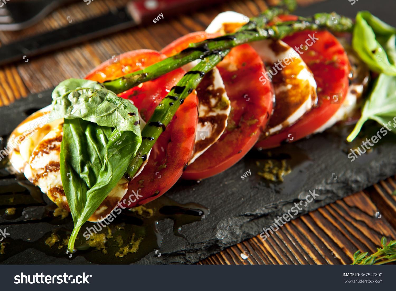 -caprese-salad-salad-with-tomatoes-mozzarella-cheese-basil-asparagus ...