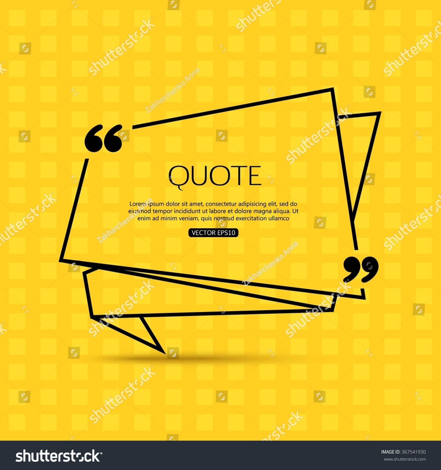 quote template social networking business newspaper stock vector quote template for social networking business newspaper magazine and advertising action vector