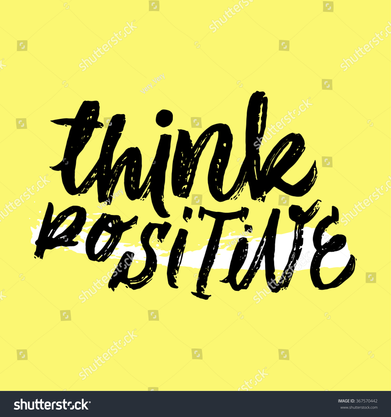 Motivational Phrases Think Positive Inspirational Motivational Quotes Hand Painted