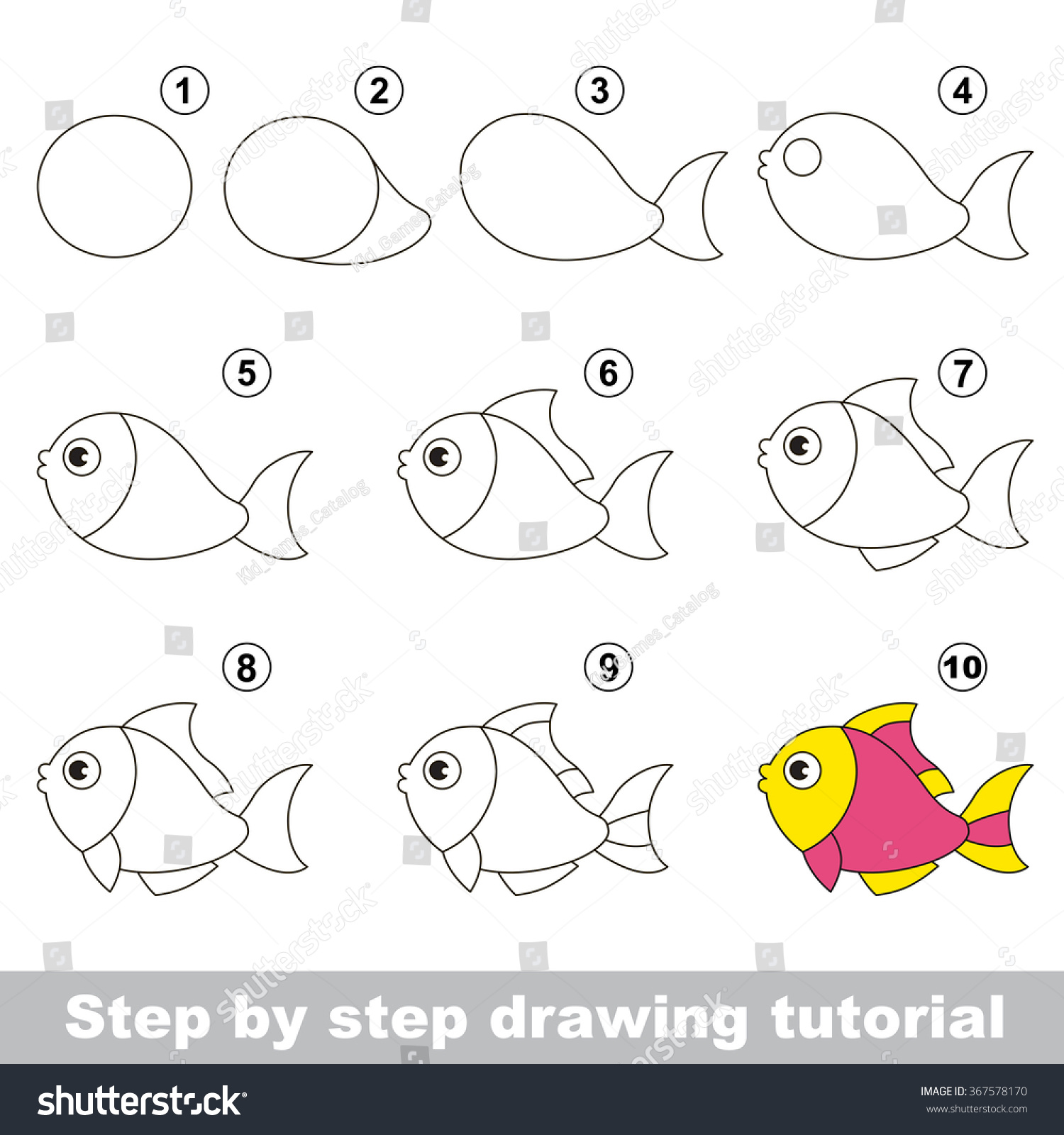 how to draw cartoons step by step for kids free