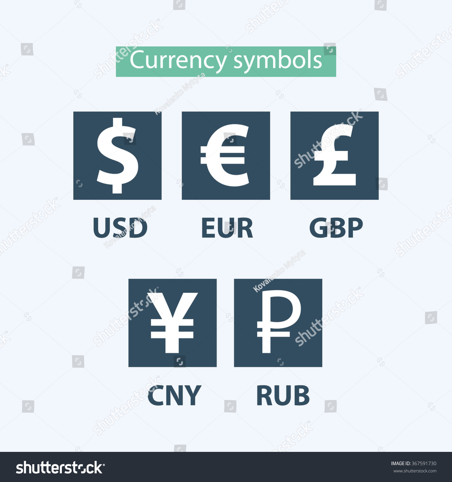 Currency Icons Set World Money Symbols Stock Vector Royalty Free
