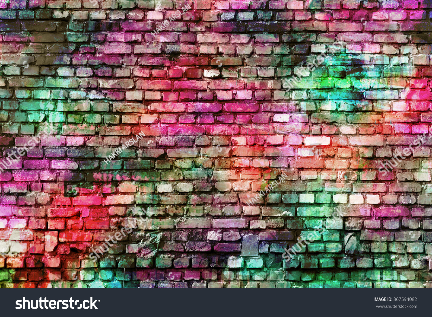 Colorful Wall Art, Inspirational Background Image.