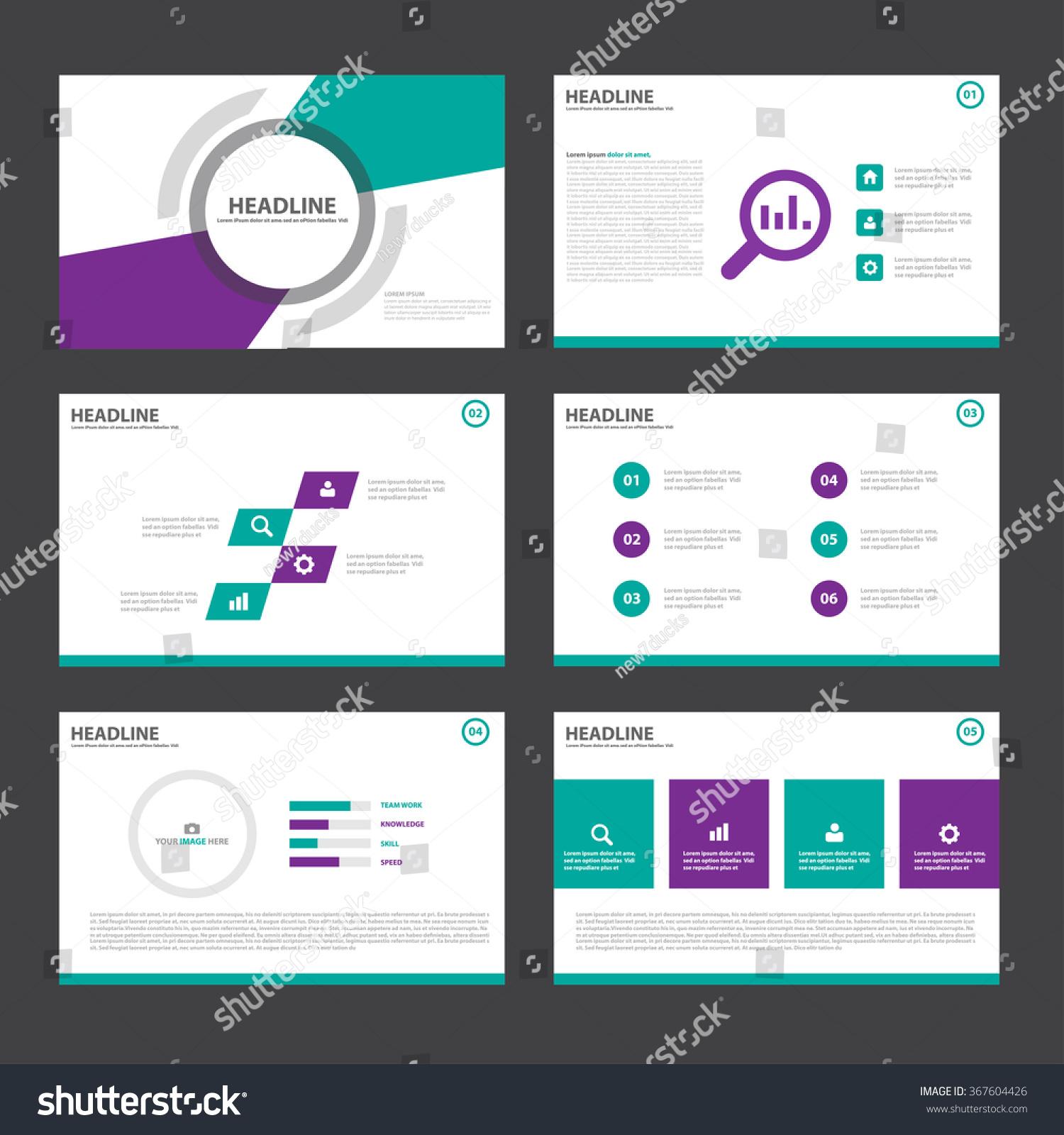 Green Purple Presentation Templates Infographic Elements Stock ...