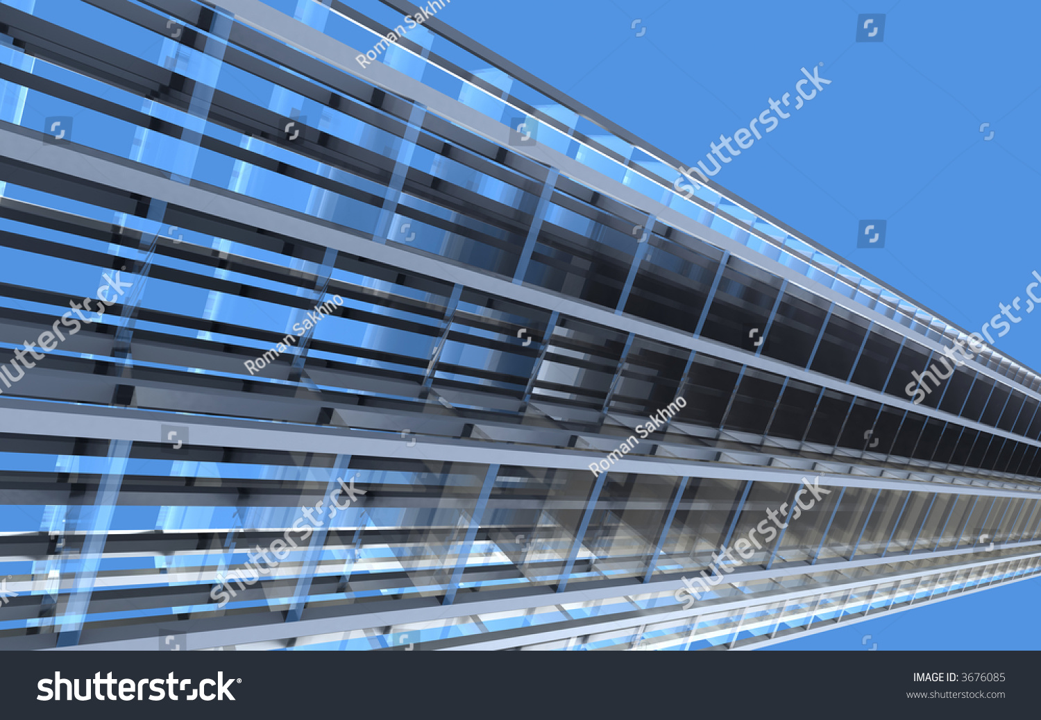 D architectural abstract concept building architecture stock