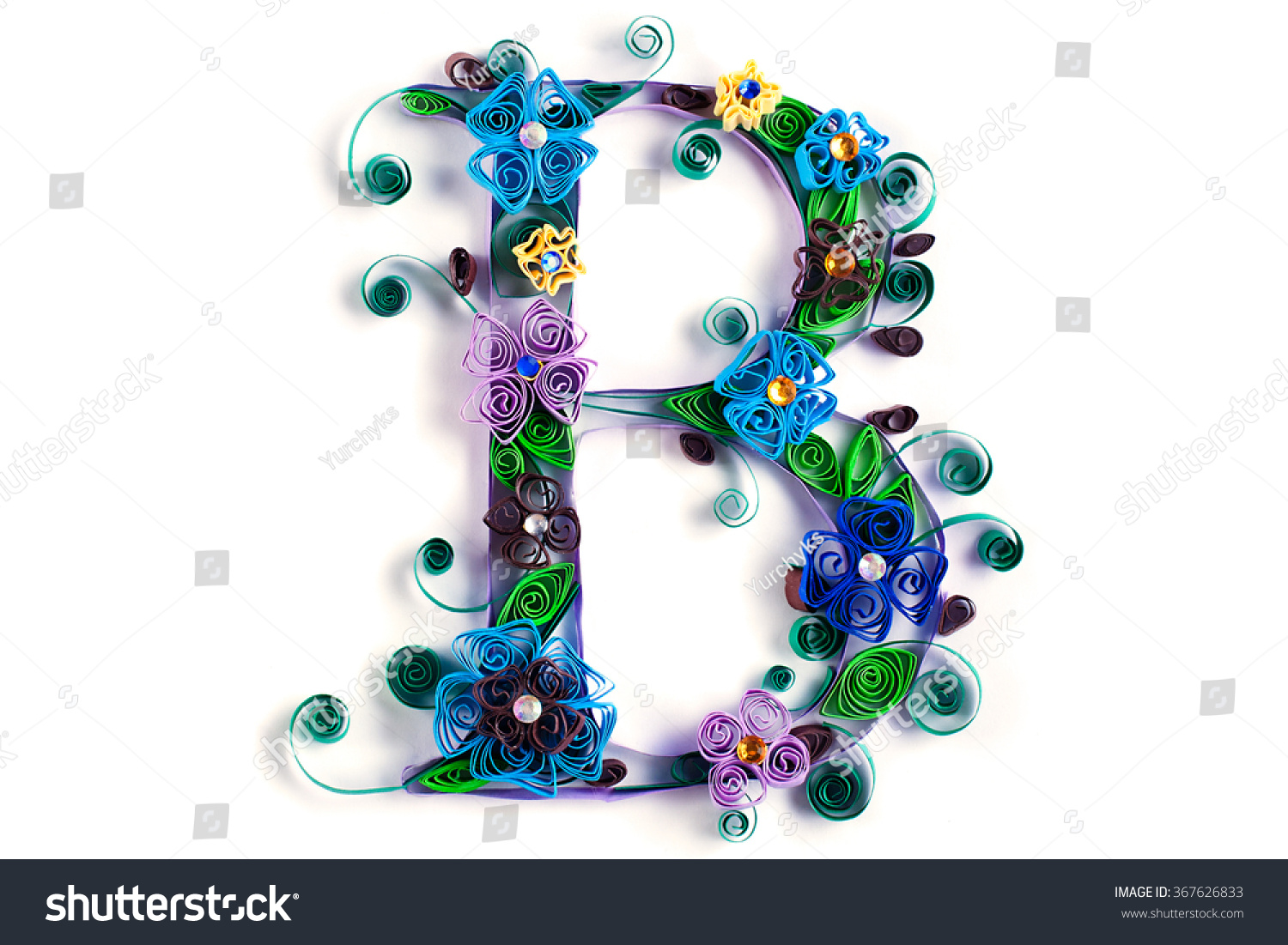 Spring Theme Quilling Letter Quilling Fonts Stock Photo Royalty