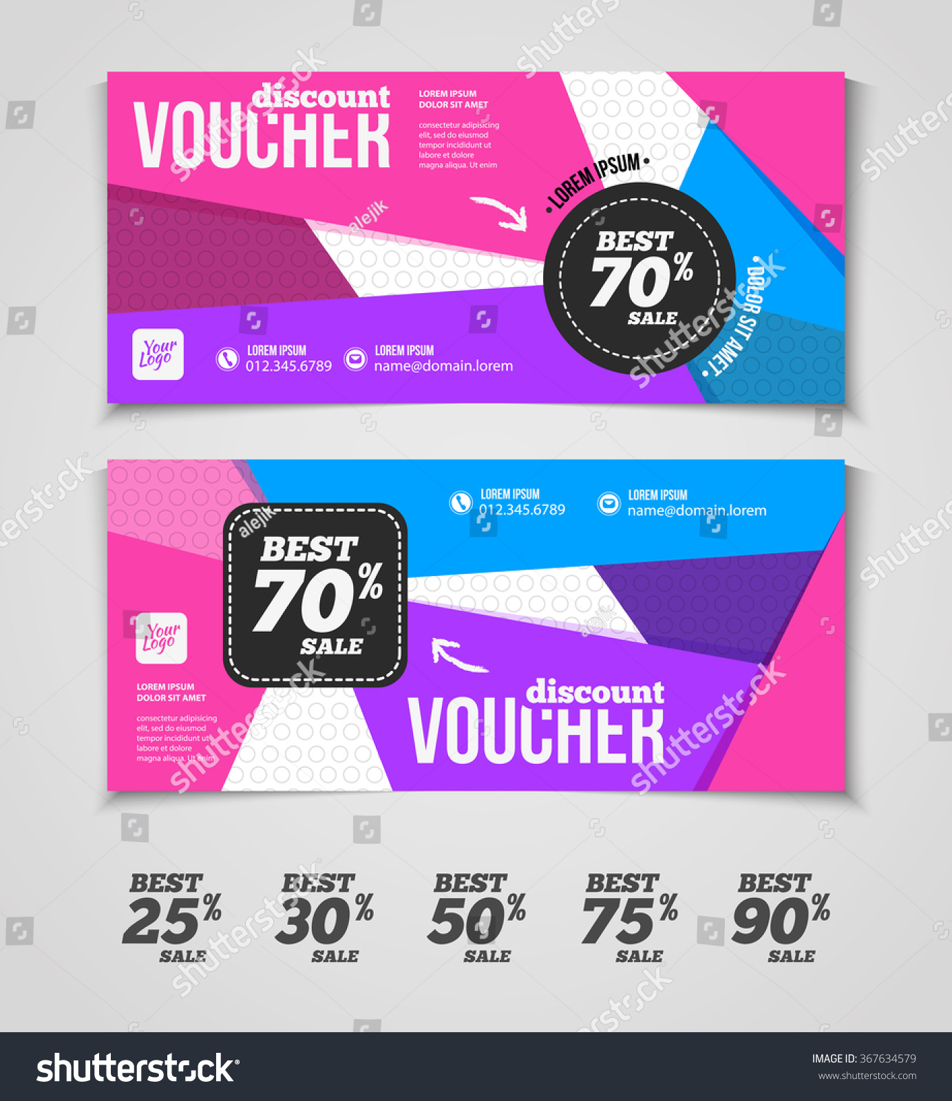 gift discount voucher template colorful modern stock vector gift or discount voucher template colorful modern design special offer or certificate coupon