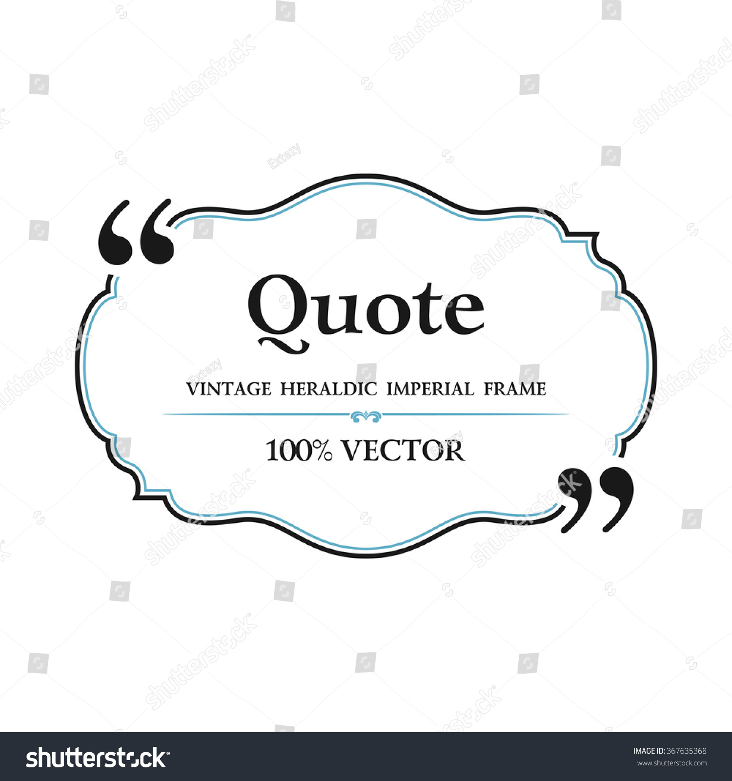 vintage quote blank text bubble box stock vector  vintage quote blank text bubble box balloon commas note message quote