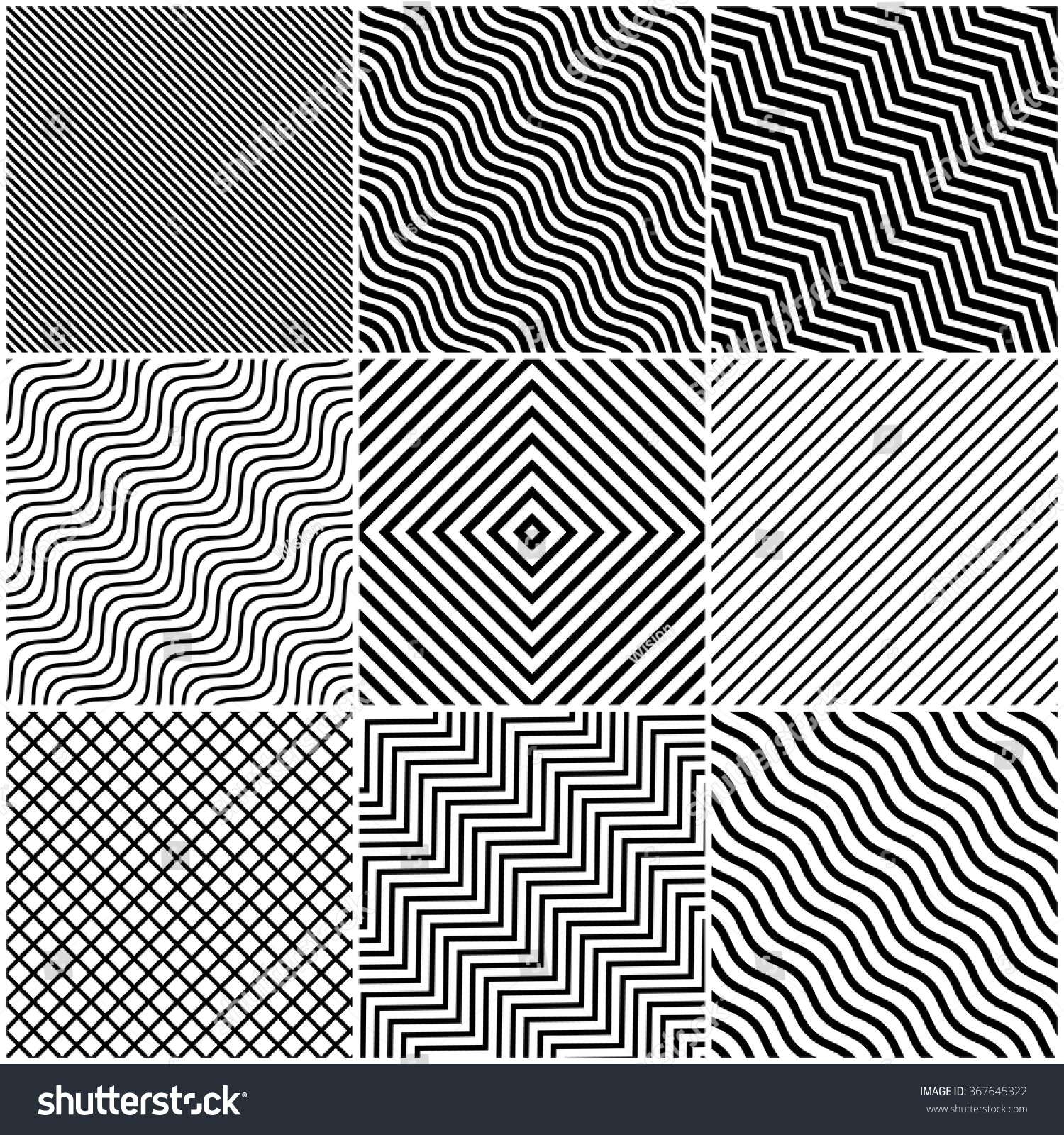 Line Design : Simple slanted black lines background set stock vector