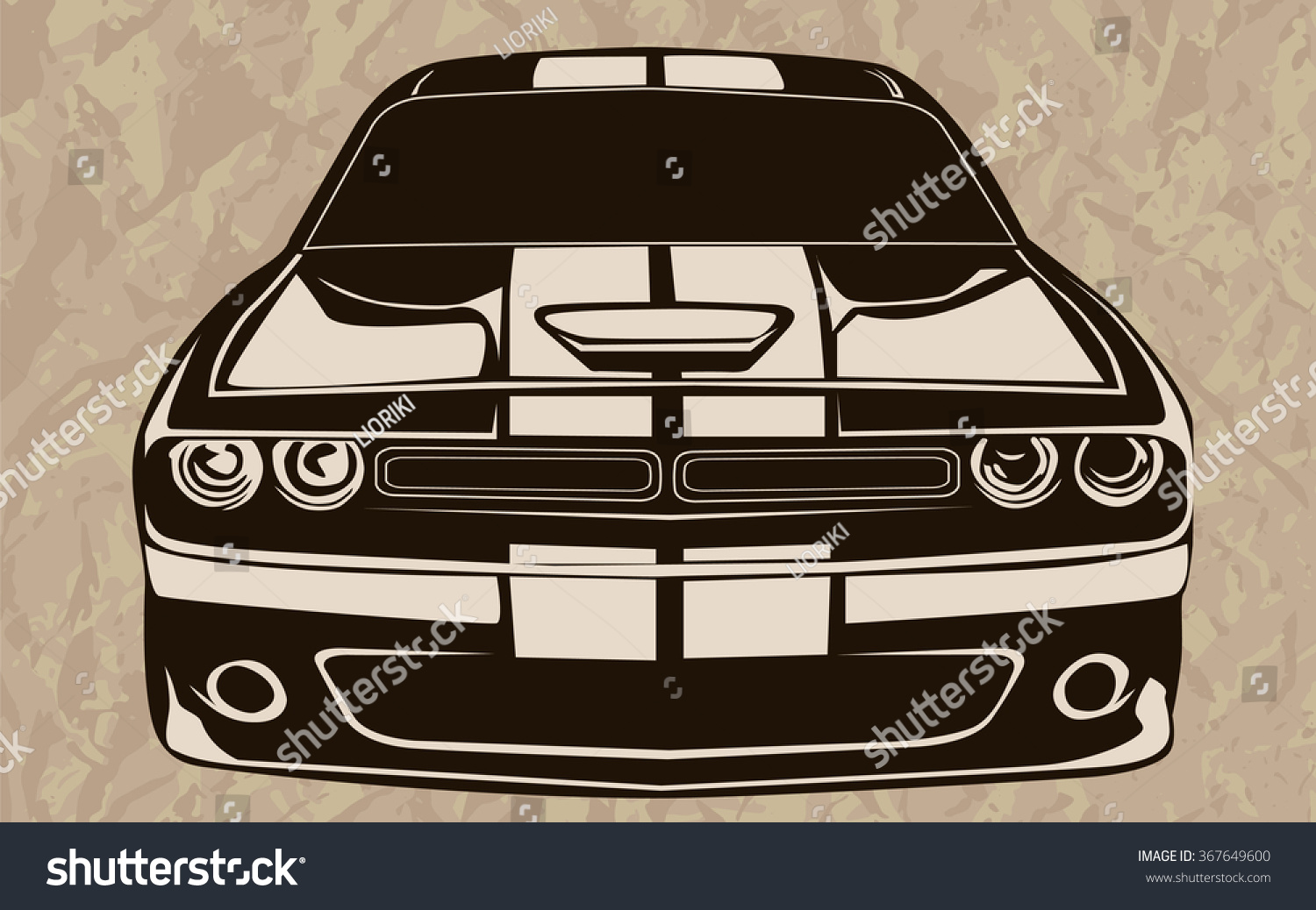 Old School Muscle Cars Inspired Cartoon Stock Vector 367649600 ...