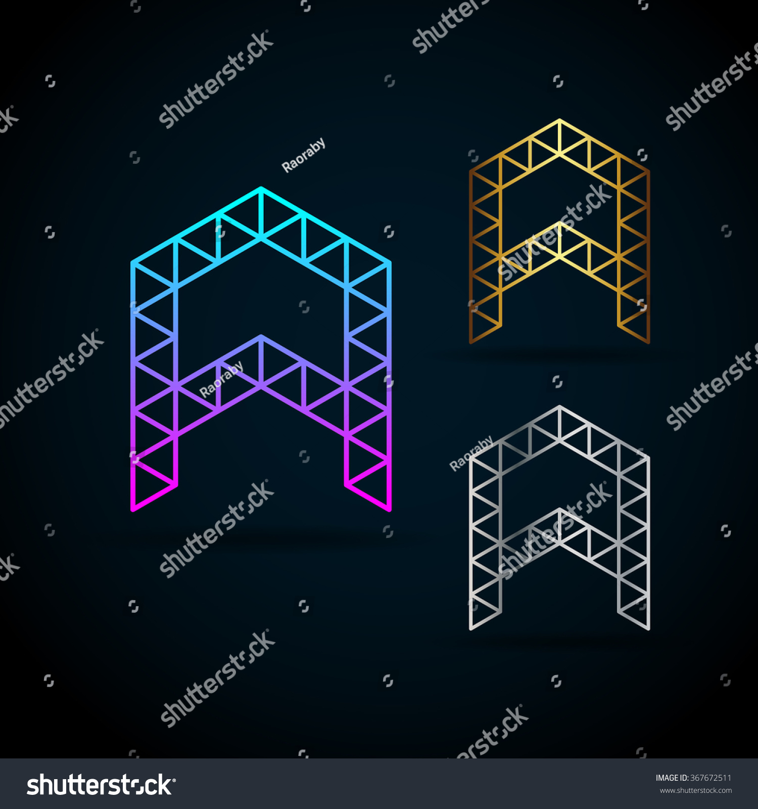 Letter Vector Origami Logo Sample Text Stock Vector ... - photo#36