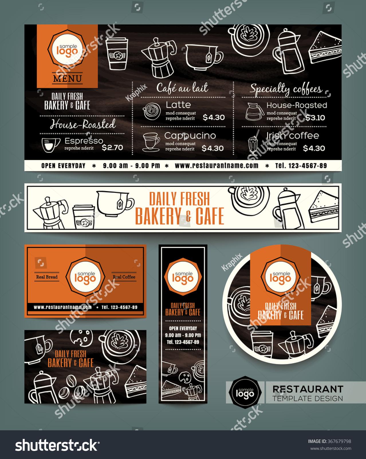 sandwich shop menu template - coffee bakery shop cafe set menu stock vector 367679798