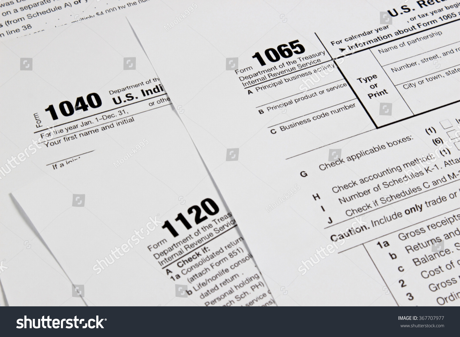 Us Tax Form Taxation Concept Stock Photo 367707977 - Shutterstock